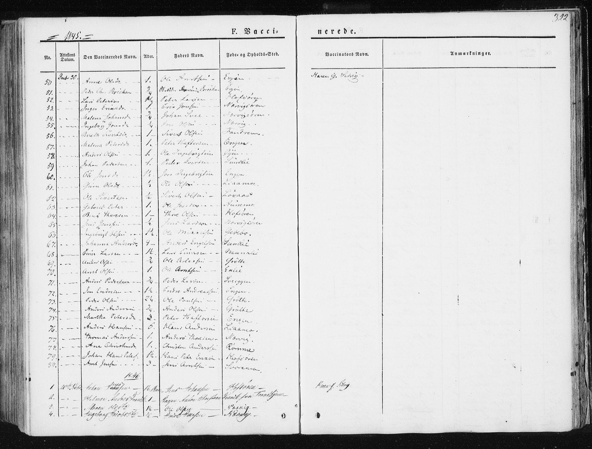 SAT, Ministerialprotokoller, klokkerbøker og fødselsregistre - Sør-Trøndelag, 668/L0805: Ministerialbok nr. 668A05, 1840-1853, s. 322