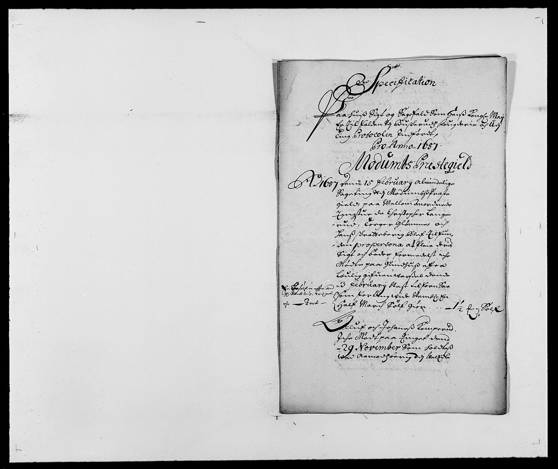 RA, Rentekammeret inntil 1814, Reviderte regnskaper, Fogderegnskap, R25/L1679: Fogderegnskap Buskerud, 1687-1688, s. 68