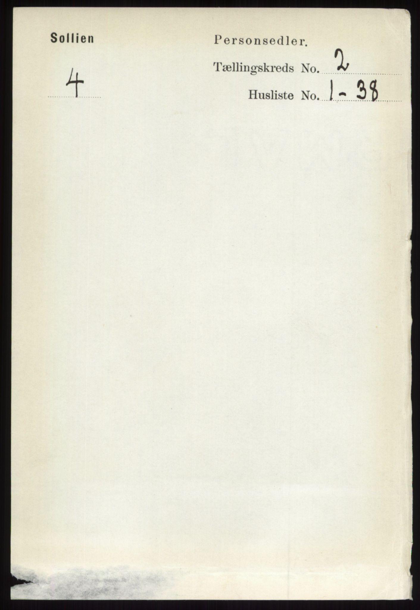 RA, Folketelling 1891 for 0431 Sollia herred, 1891, s. 412