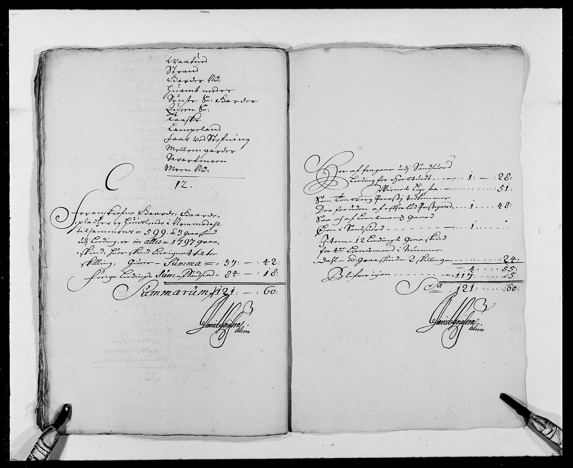 RA, Rentekammeret inntil 1814, Reviderte regnskaper, Fogderegnskap, R24/L1573: Fogderegnskap Numedal og Sandsvær, 1687-1691, s. 283