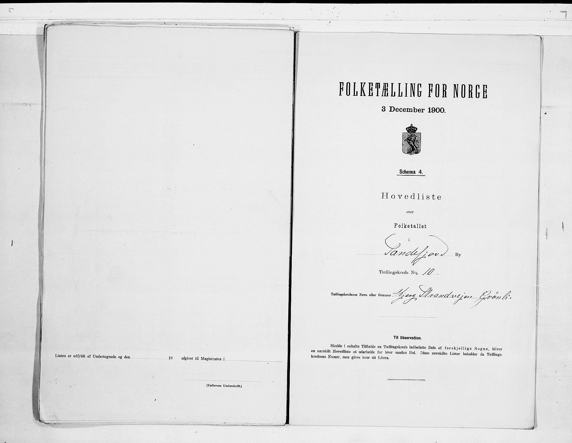 RA, Folketelling 1900 for 0706 Sandefjord kjøpstad, 1900, s. 22