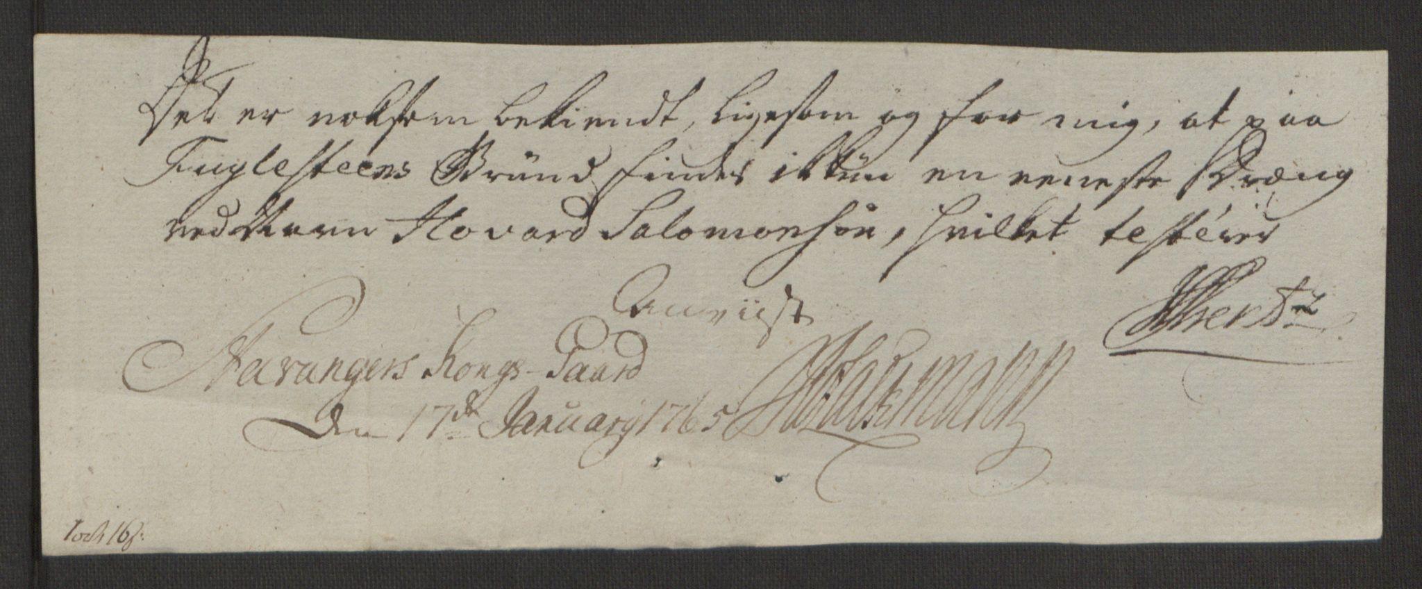 RA, Rentekammeret inntil 1814, Realistisk ordnet avdeling, Ol/L0016b: [Gg 10]: Ekstraskatten, 23.09.1762. Ryfylke, 1764-1768, s. 383