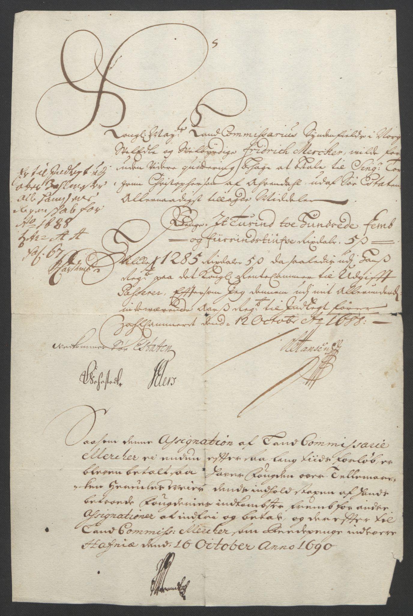 RA, Rentekammeret inntil 1814, Reviderte regnskaper, Fogderegnskap, R35/L2091: Fogderegnskap Øvre og Nedre Telemark, 1690-1693, s. 11