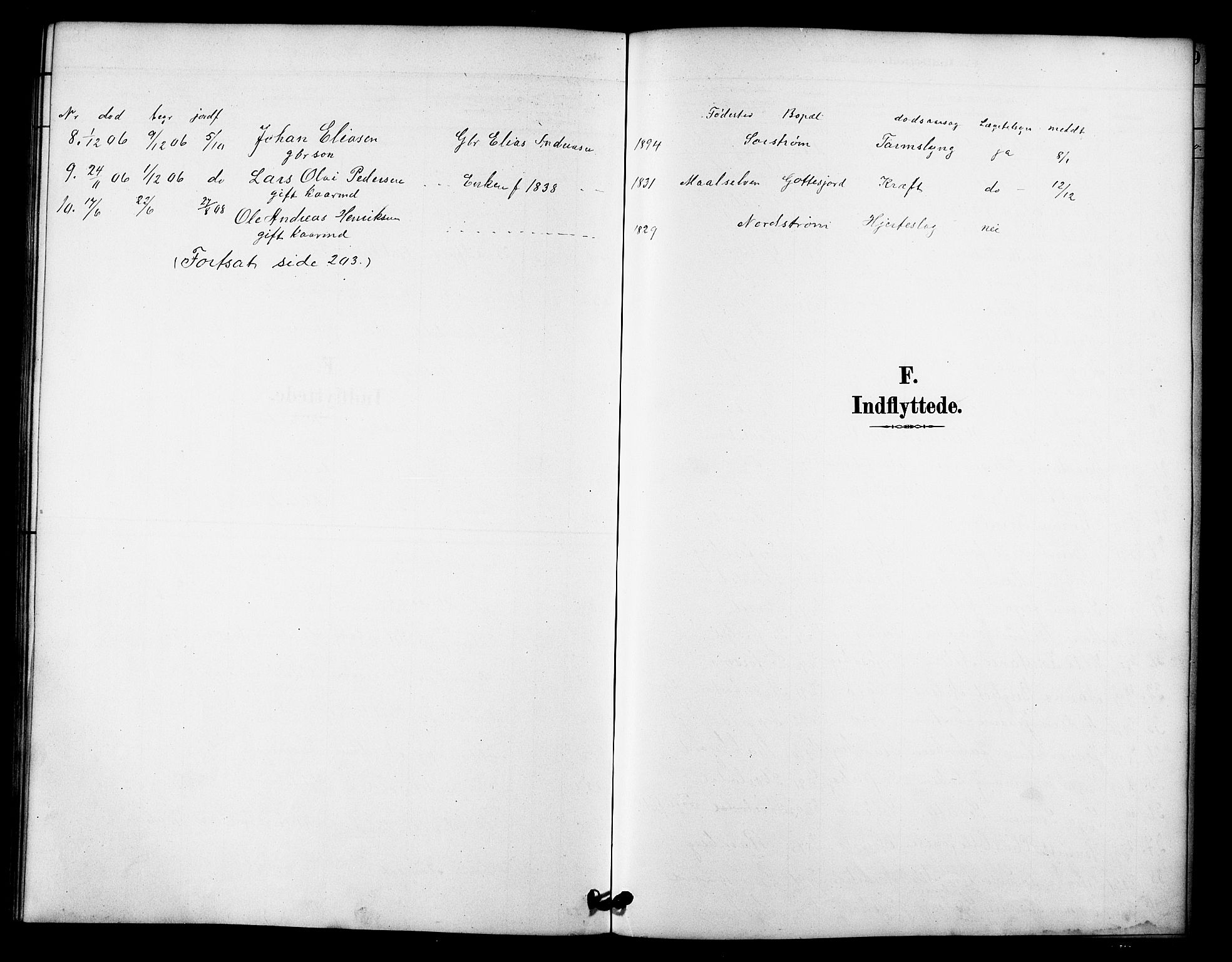 SATØ, Tranøy sokneprestkontor, I/Ia/Iab/L0022klokker: Klokkerbok nr. 22, 1887-1912