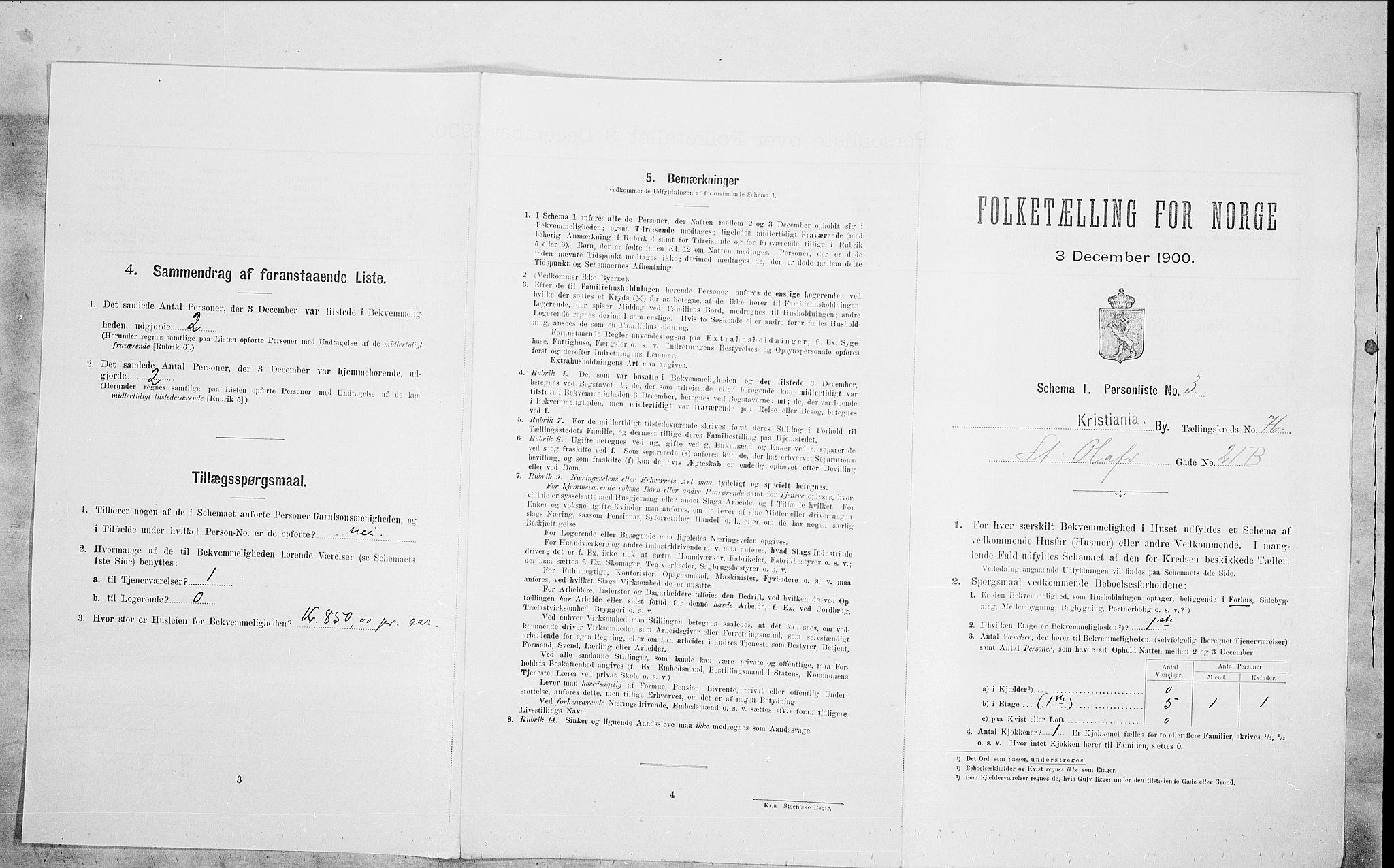SAO, Folketelling 1900 for 0301 Kristiania kjøpstad, 1900, s. 89984