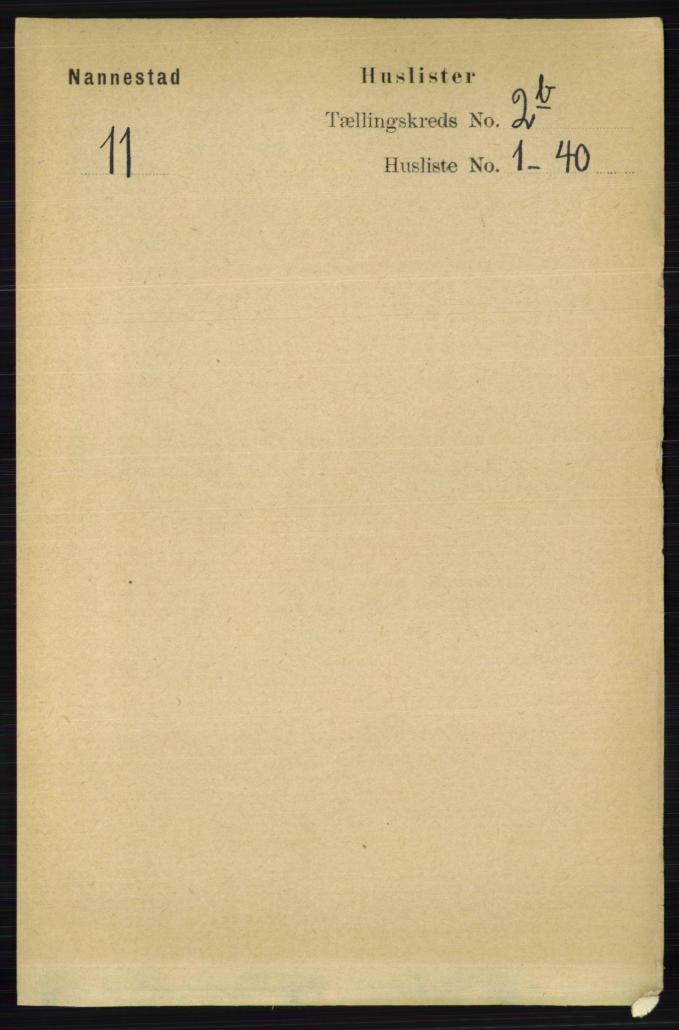 RA, Folketelling 1891 for 0238 Nannestad herred, 1891, s. 1113