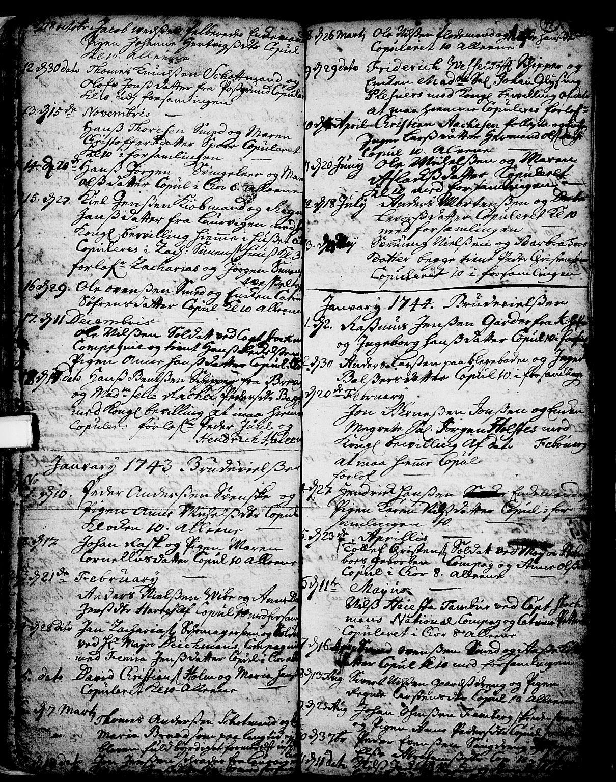 SAKO, Skien kirkebøker, F/Fa/L0002: Ministerialbok nr. 2, 1716-1757, s. 41