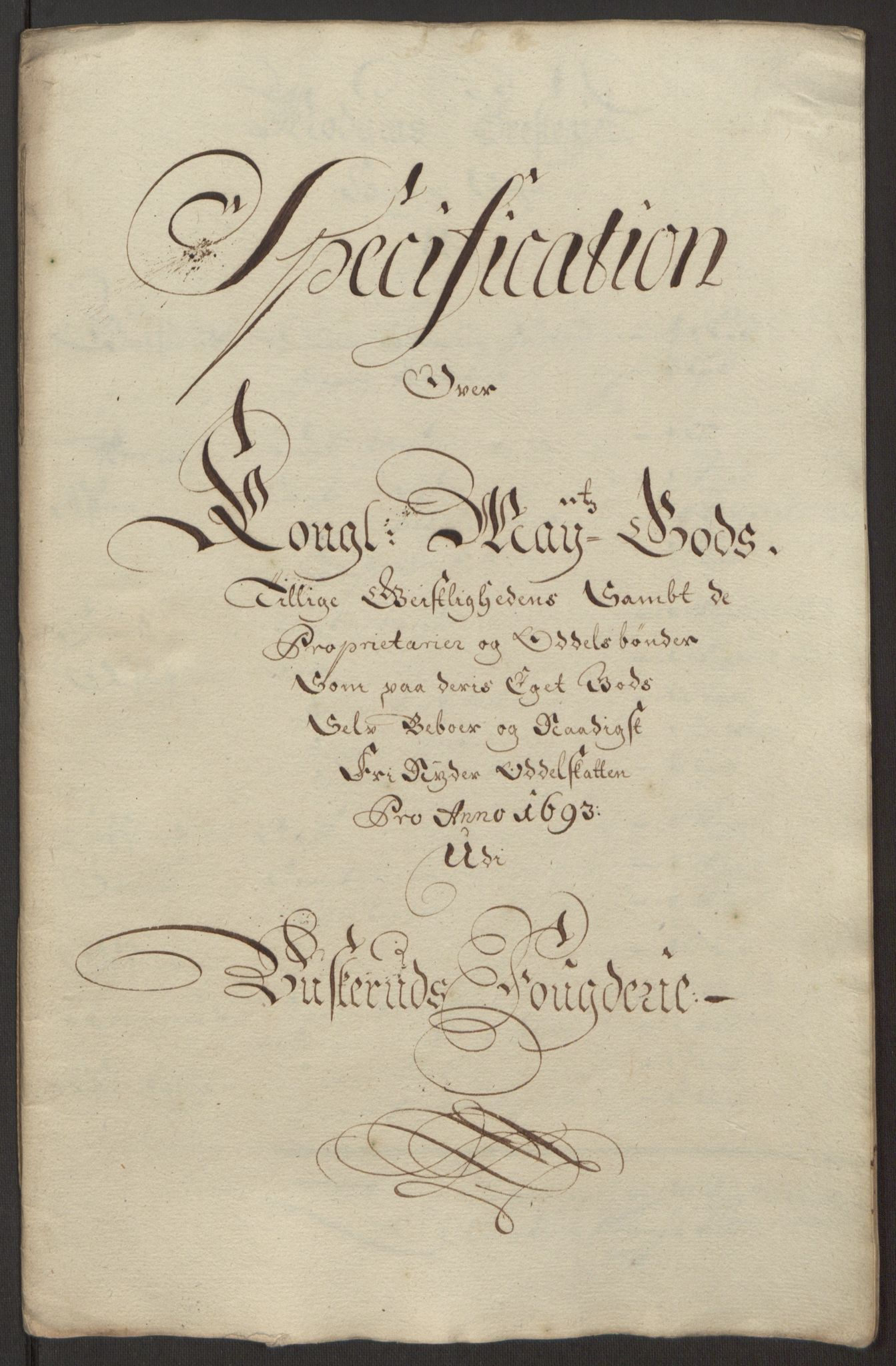 RA, Rentekammeret inntil 1814, Reviderte regnskaper, Fogderegnskap, R25/L1682: Fogderegnskap Buskerud, 1693, s. 220