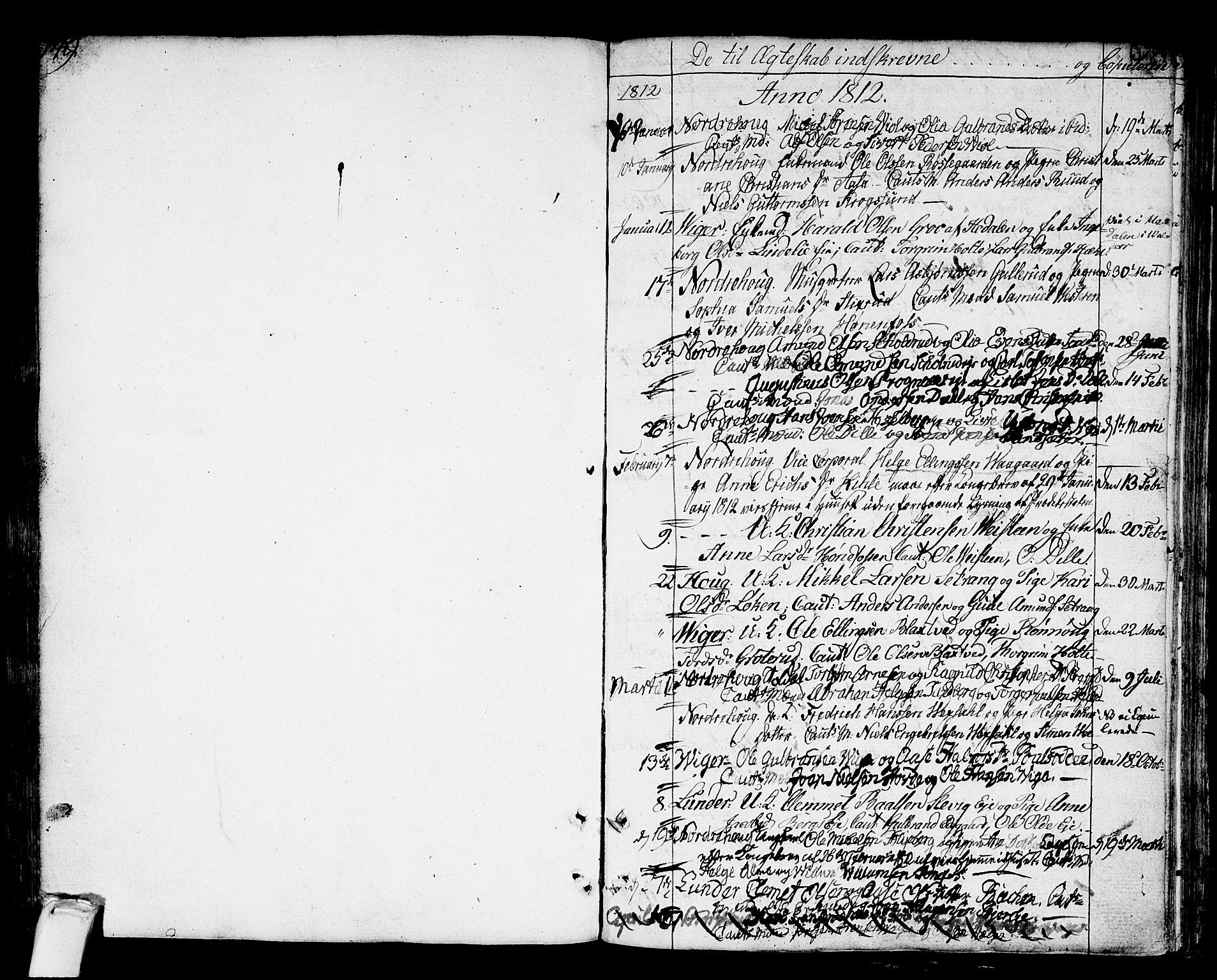 SAKO, Norderhov kirkebøker, F/Fa/L0007: Ministerialbok nr. 7, 1812-1814, s. 149