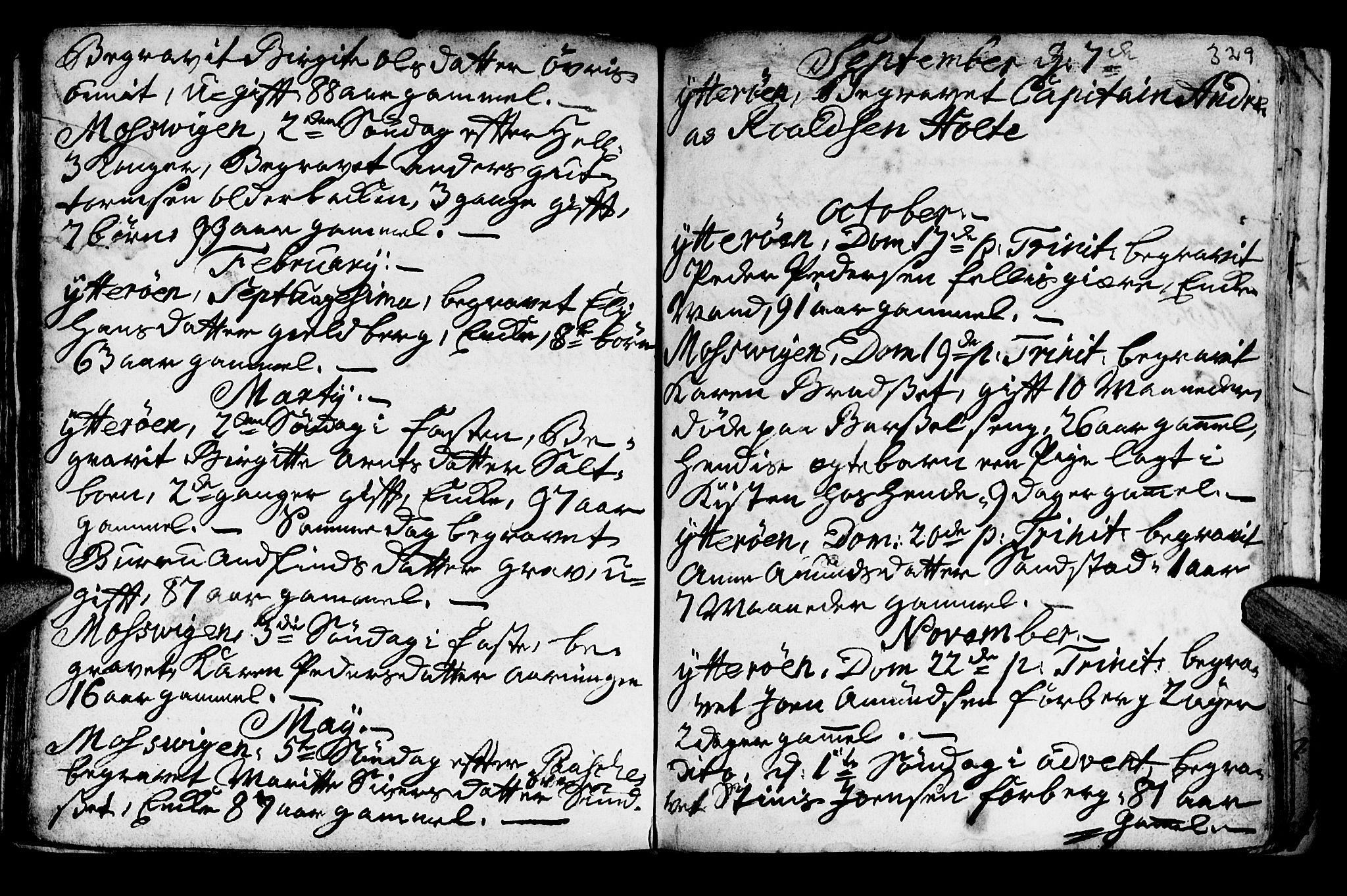 SAT, Ministerialprotokoller, klokkerbøker og fødselsregistre - Nord-Trøndelag, 722/L0215: Ministerialbok nr. 722A02, 1718-1755, s. 329