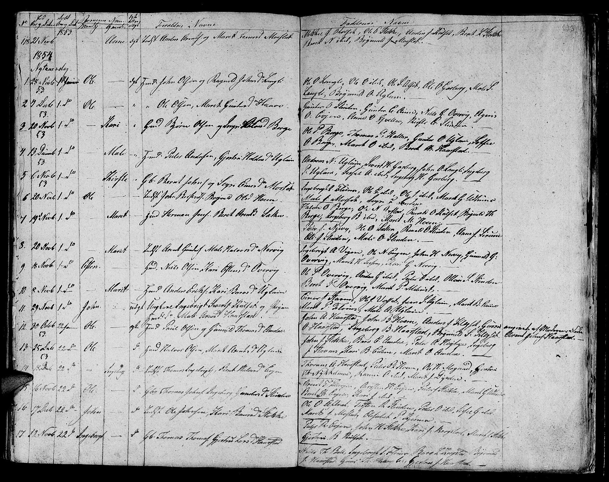 SAT, Ministerialprotokoller, klokkerbøker og fødselsregistre - Sør-Trøndelag, 695/L1154: Klokkerbok nr. 695C05, 1842-1858, s. 193