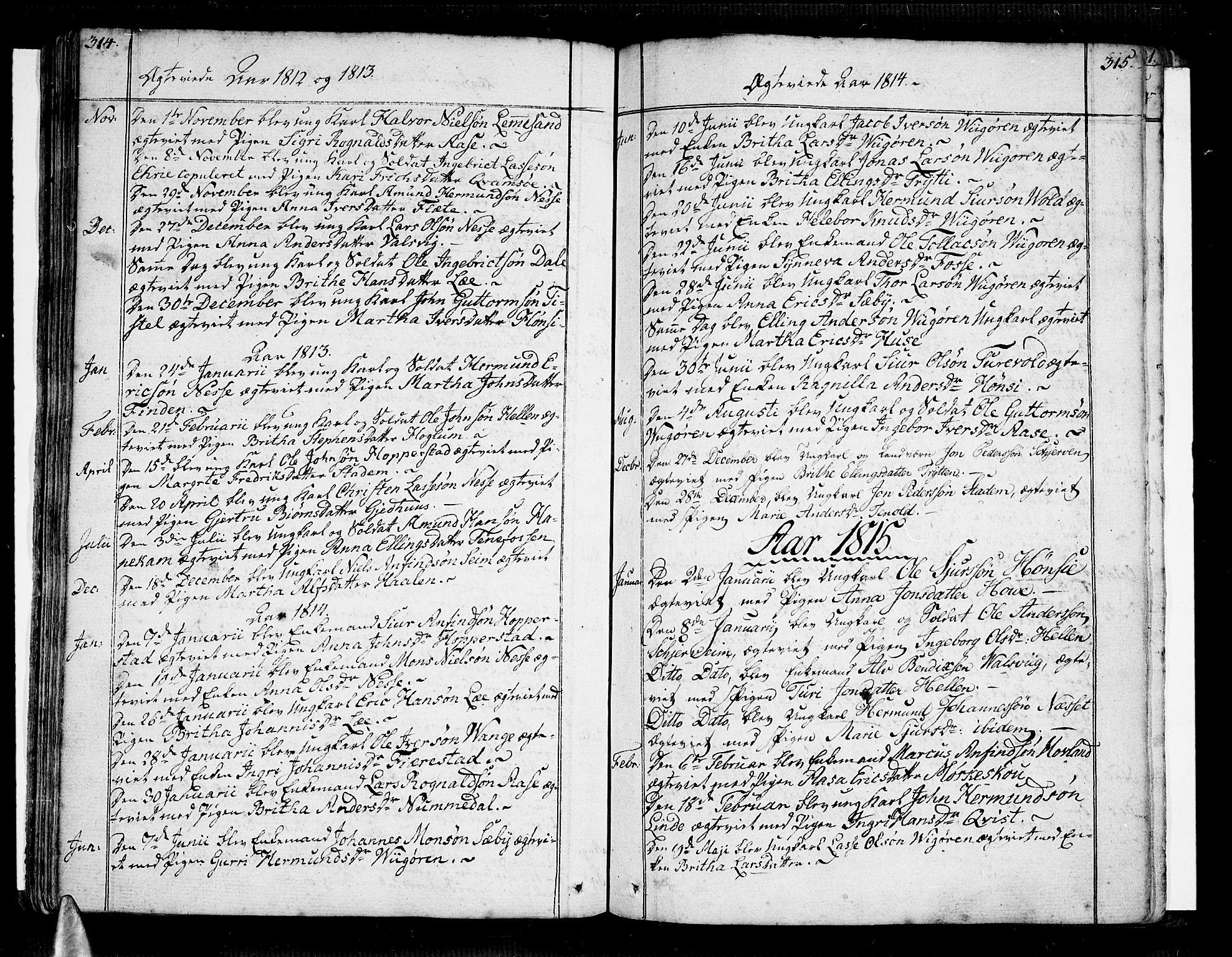 SAB, Vik Sokneprestembete, Ministerialbok nr. A 5, 1787-1820, s. 314-315