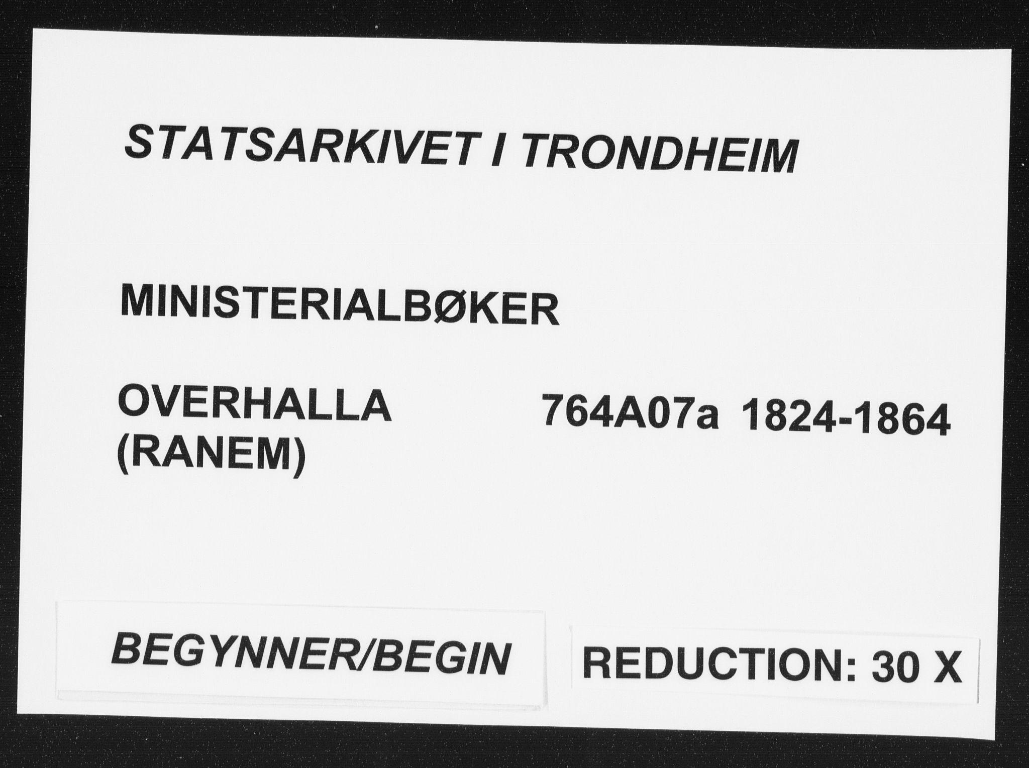 SAT, Ministerialprotokoller, klokkerbøker og fødselsregistre - Nord-Trøndelag, 764/L0551: Ministerialbok nr. 764A07a, 1824-1864