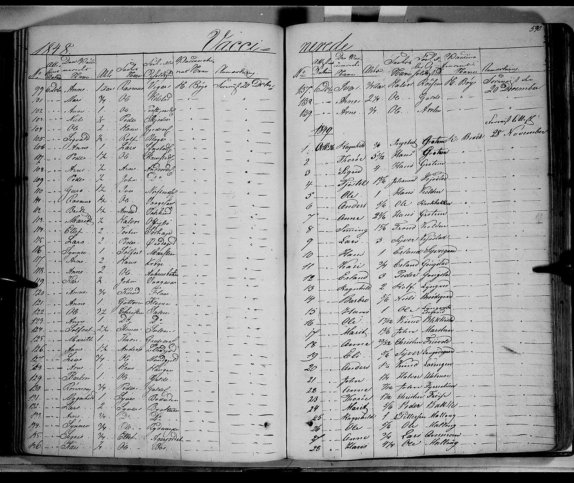 SAH, Lom prestekontor, K/L0006: Ministerialbok nr. 6B, 1837-1863, s. 590