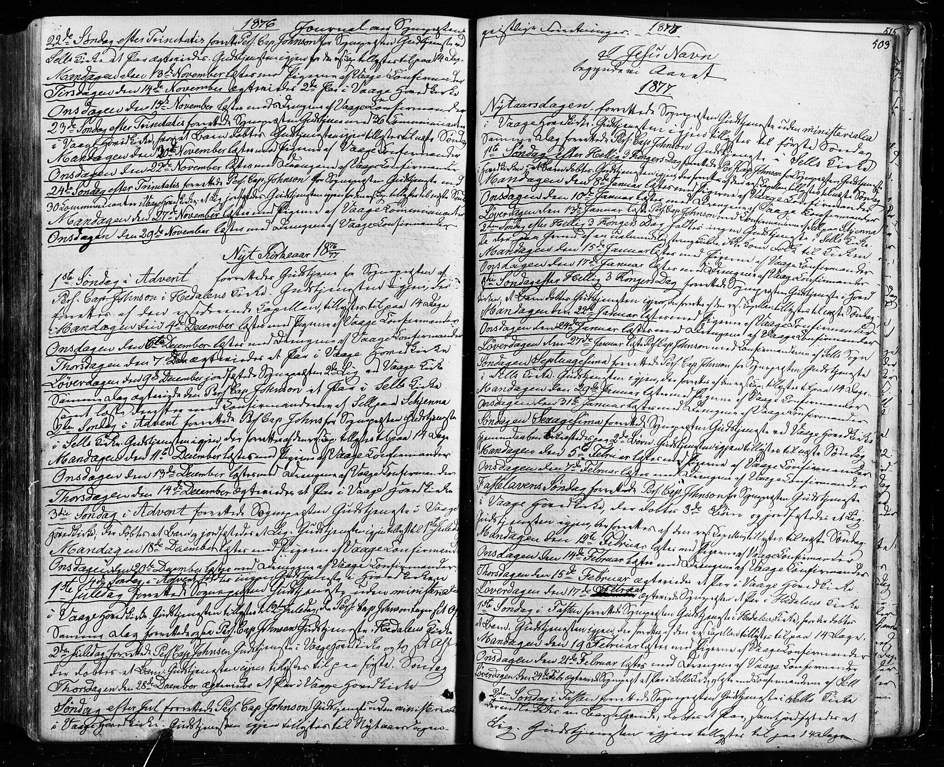 SAH, Vågå prestekontor, Ministerialbok nr. 7 /1, 1872-1886, s. 503