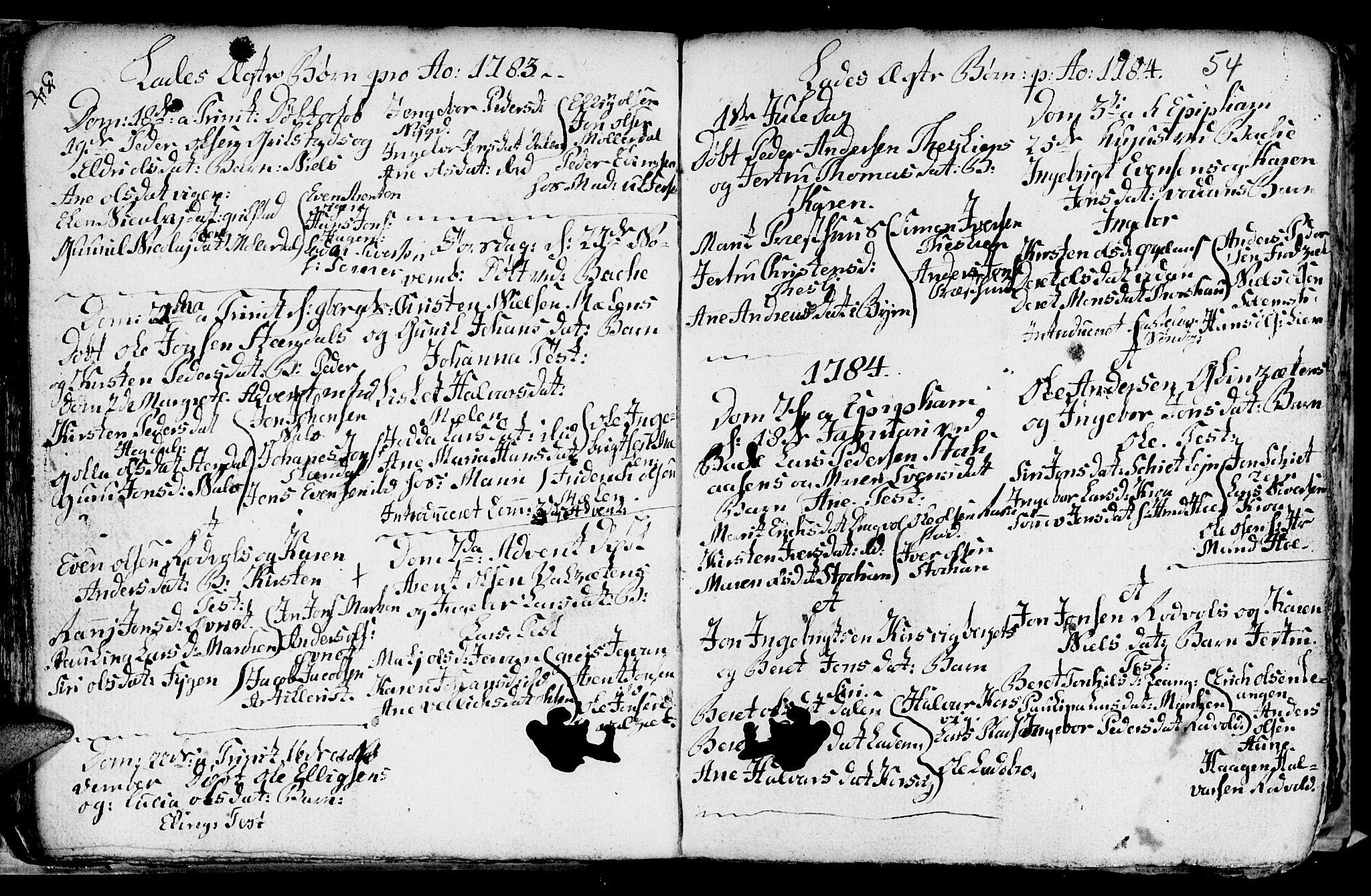 SAT, Ministerialprotokoller, klokkerbøker og fødselsregistre - Sør-Trøndelag, 606/L0305: Klokkerbok nr. 606C01, 1757-1819, s. 54