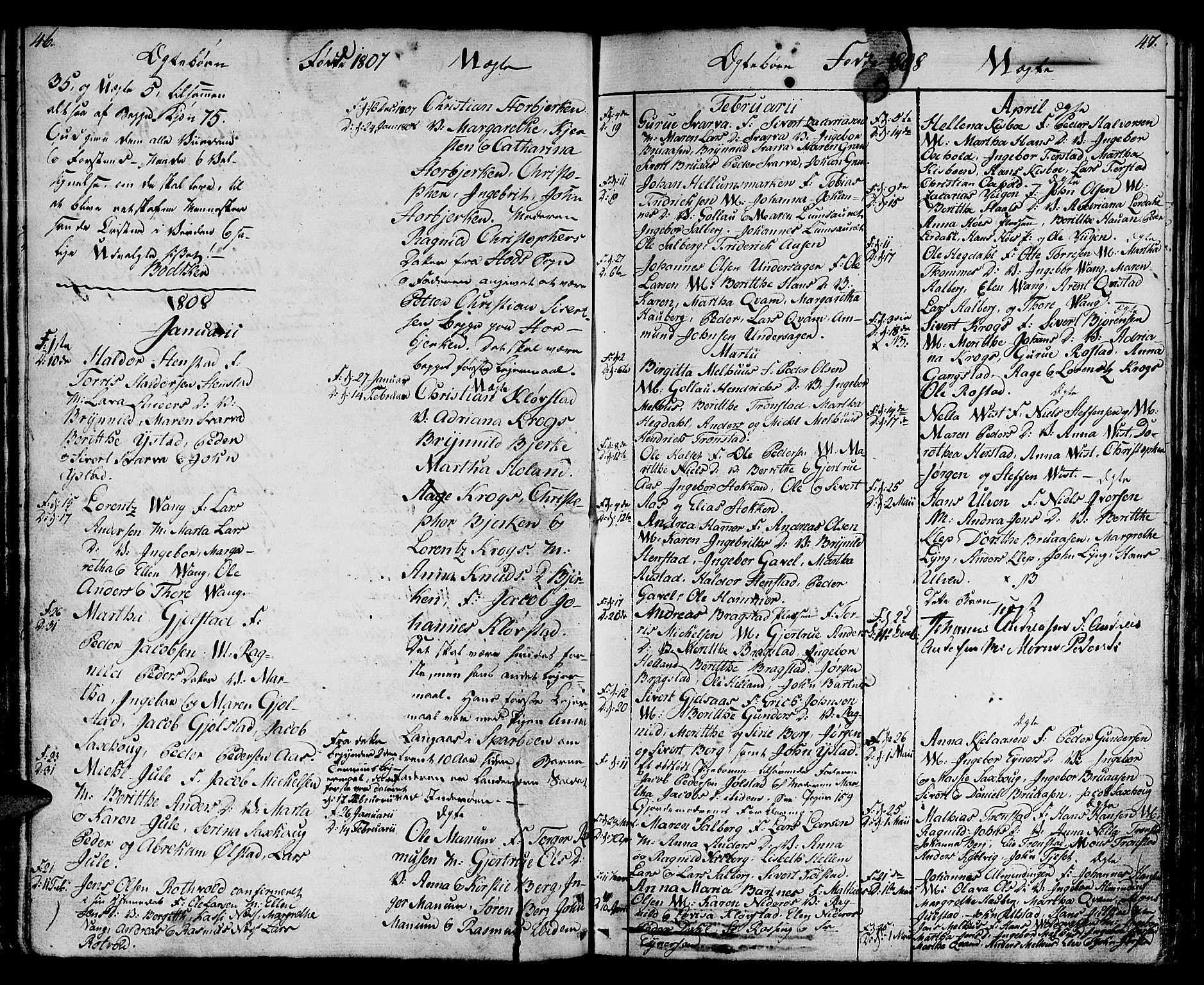 SAT, Ministerialprotokoller, klokkerbøker og fødselsregistre - Nord-Trøndelag, 730/L0274: Ministerialbok nr. 730A03, 1802-1816, s. 46-47