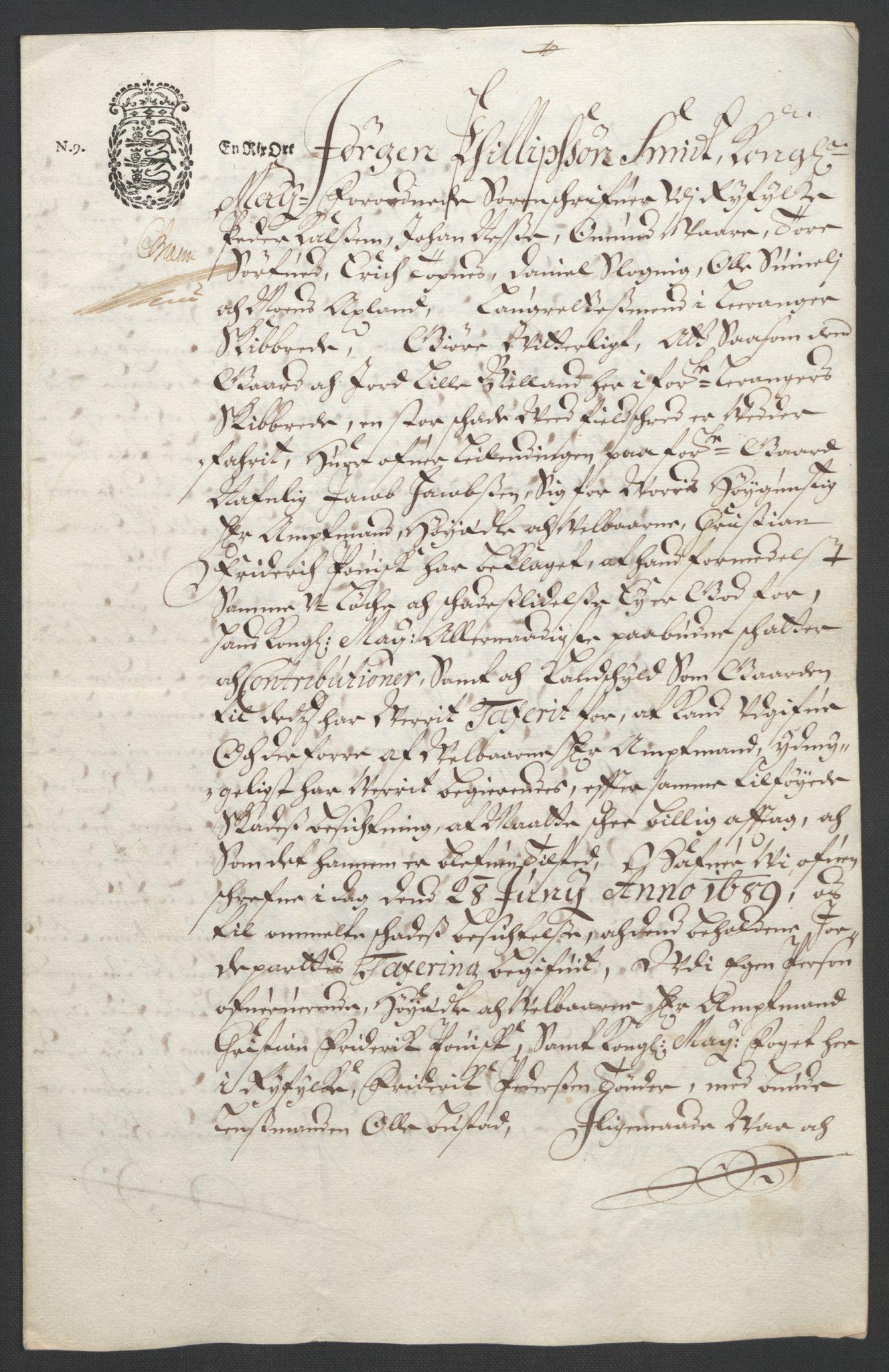 RA, Rentekammeret inntil 1814, Reviderte regnskaper, Fogderegnskap, R47/L2856: Fogderegnskap Ryfylke, 1689-1693, s. 115