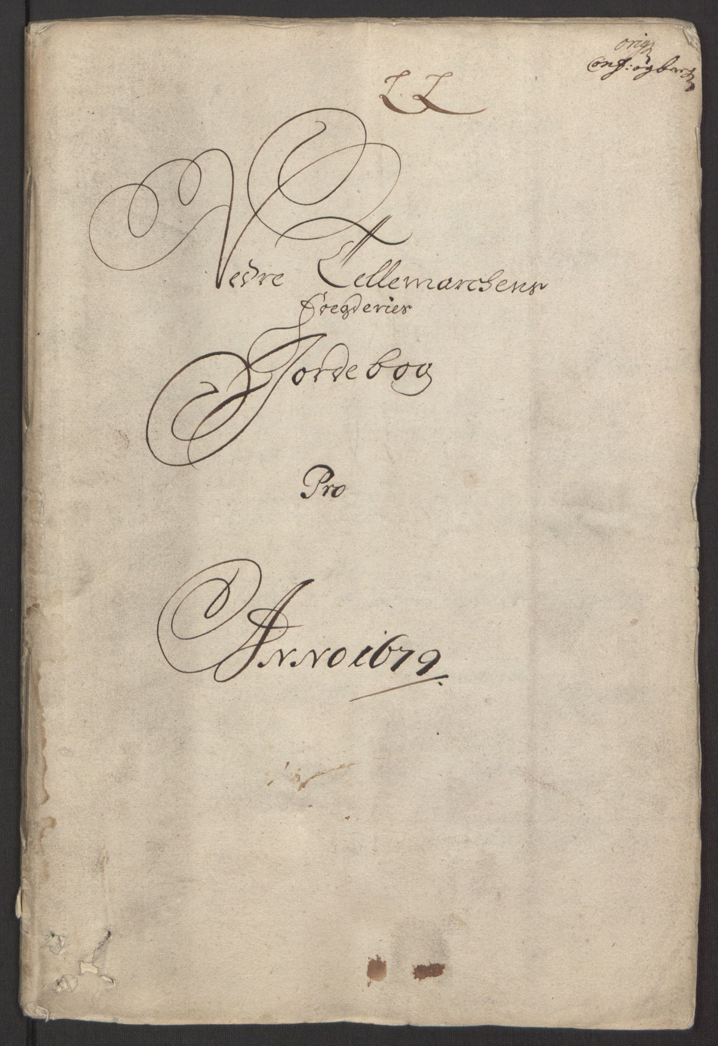RA, Rentekammeret inntil 1814, Reviderte regnskaper, Fogderegnskap, R35/L2072: Fogderegnskap Øvre og Nedre Telemark, 1679, s. 5