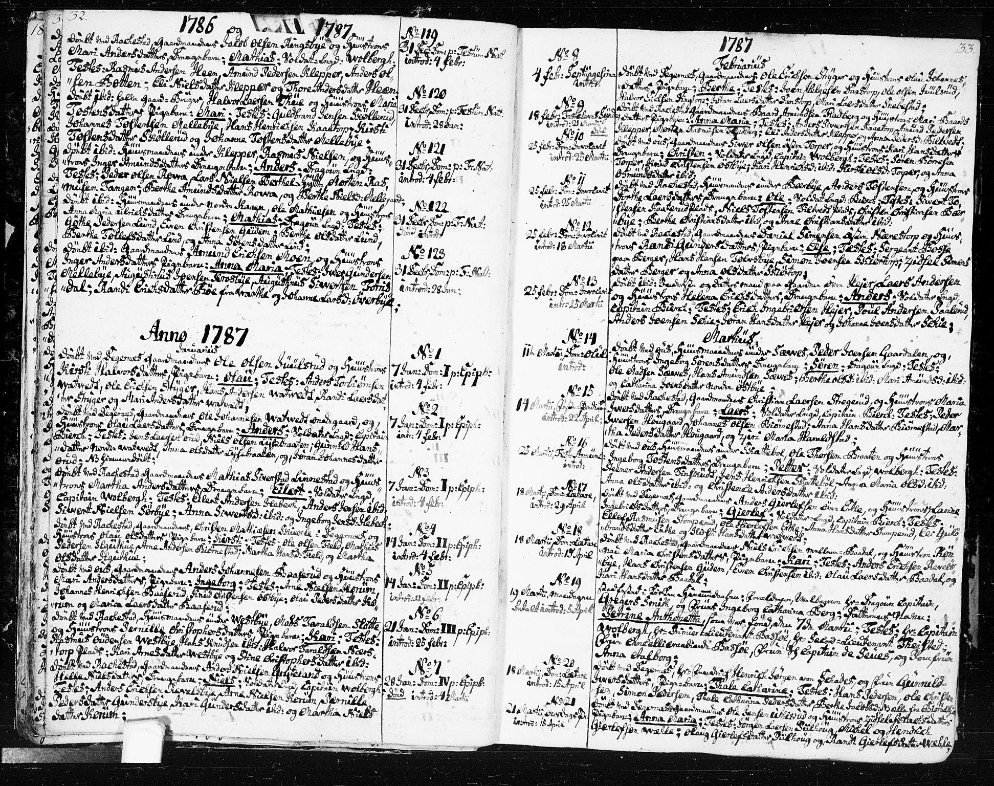 SAO, Rakkestad prestekontor Kirkebøker, F/Fa/L0005: Ministerialbok nr. I 5, 1784-1814, s. 32-33