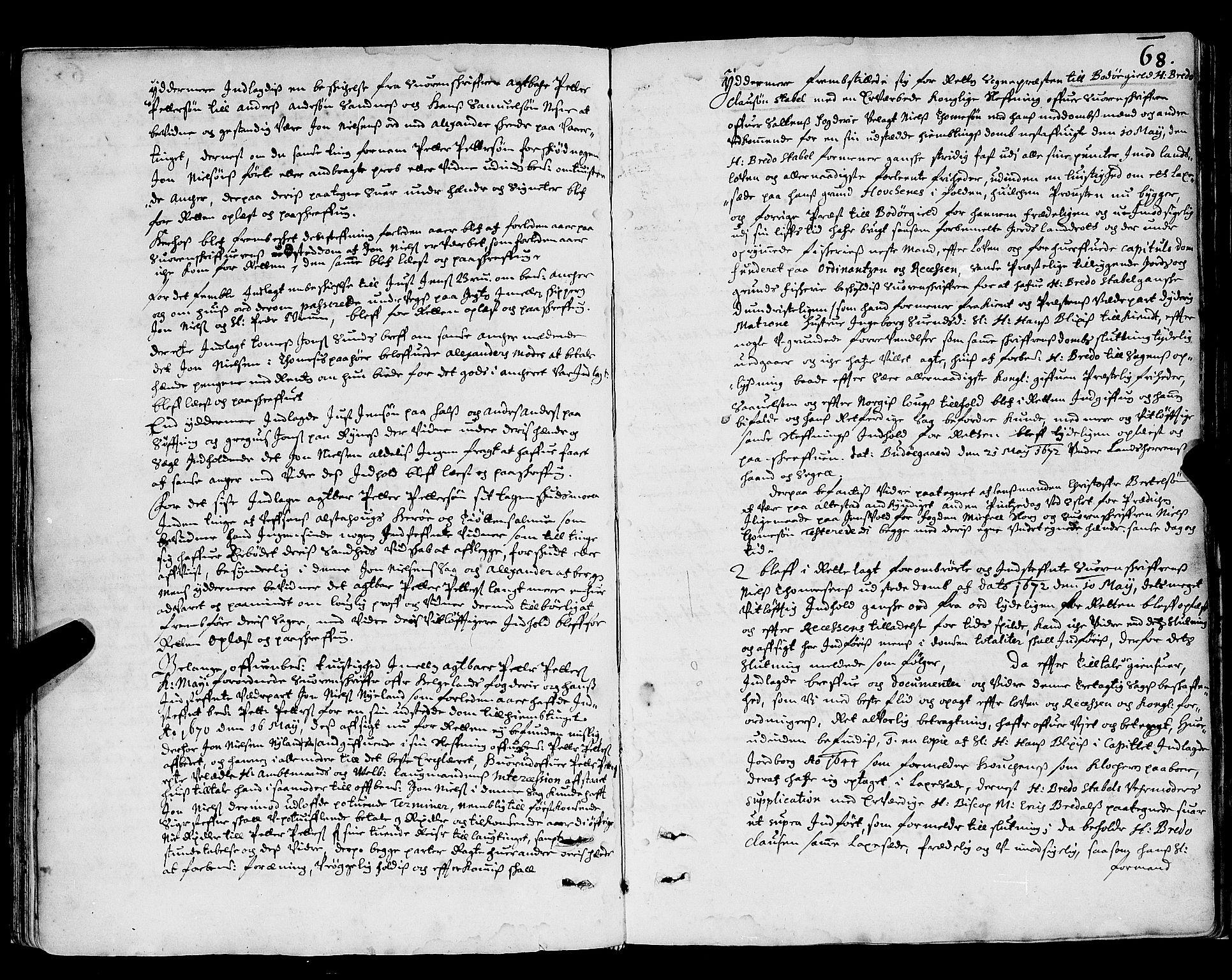 SAT, Nordland og Finmarks lagstol*, 1666-1690, s. 68