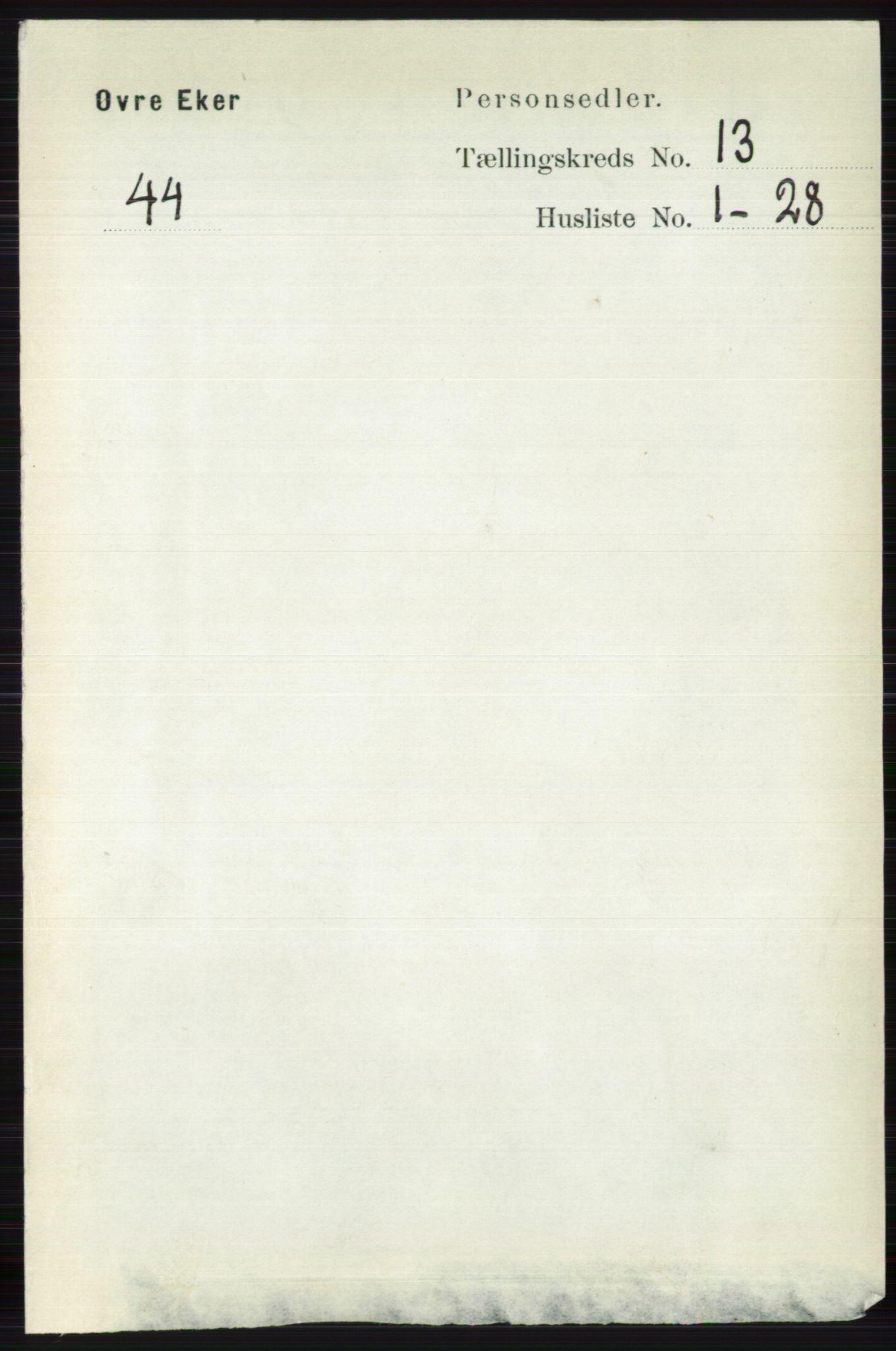 RA, Folketelling 1891 for 0624 Øvre Eiker herred, 1891, s. 5878