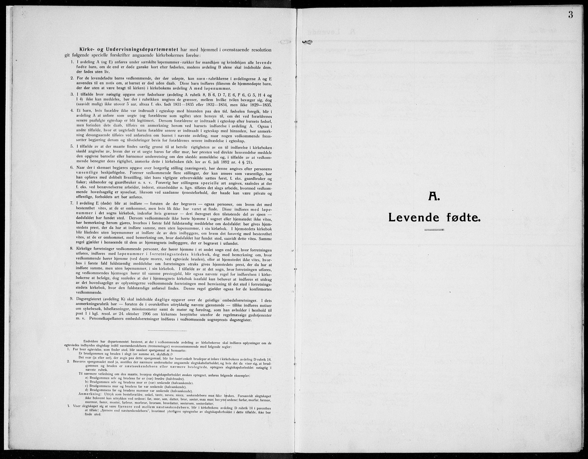SAH, Kolbu prestekontor, Ministerialbok nr. 2, 1912-1926, s. 3