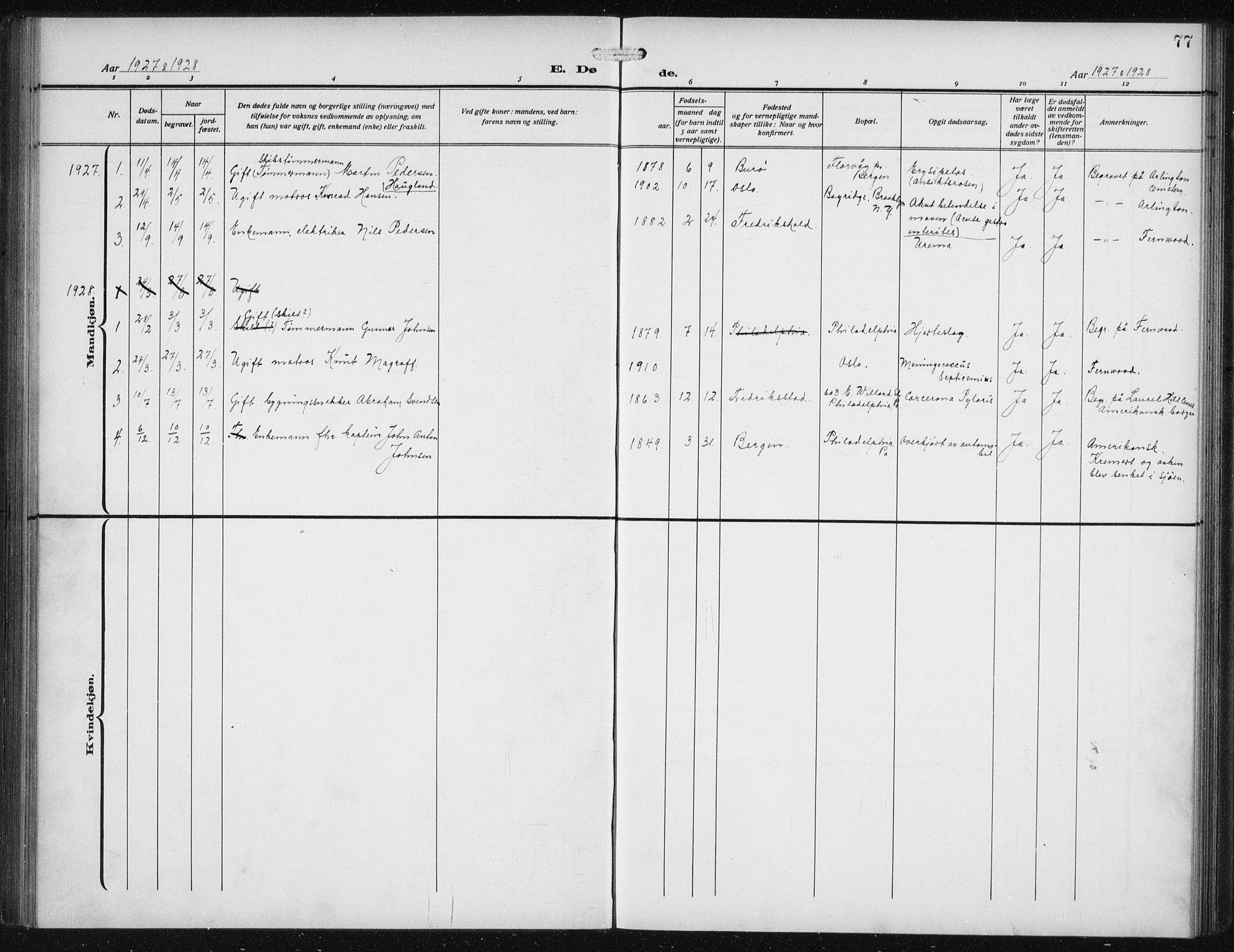 SAB, Den Norske Sjømannsmisjon i utlandet*, Ministerialbok nr. A 1, 1912-1931, s. 77