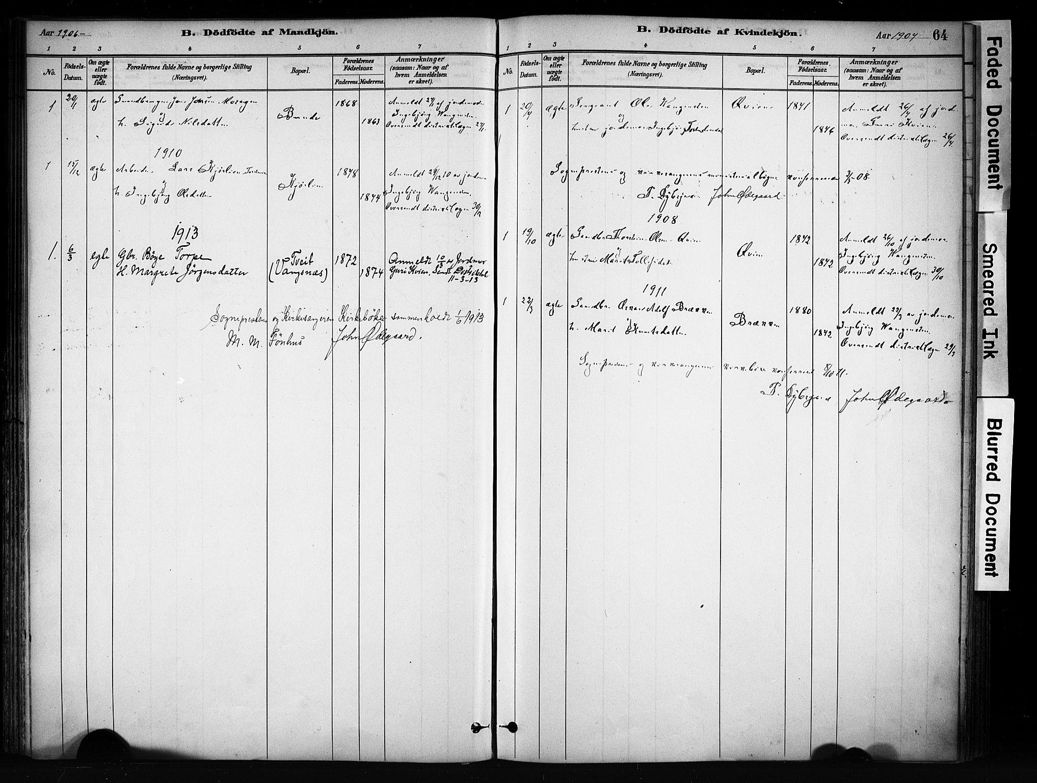 SAH, Vang prestekontor, Valdres, Ministerialbok nr. 9, 1882-1914, s. 64