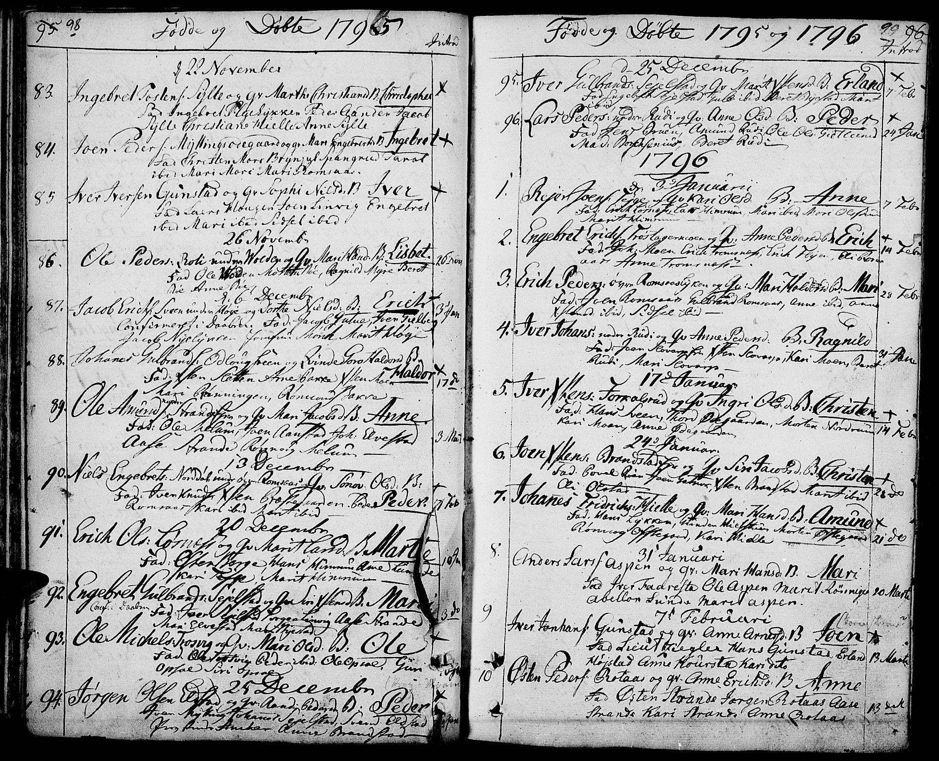SAH, Ringebu prestekontor, Ministerialbok nr. 3, 1781-1820, s. 98-99
