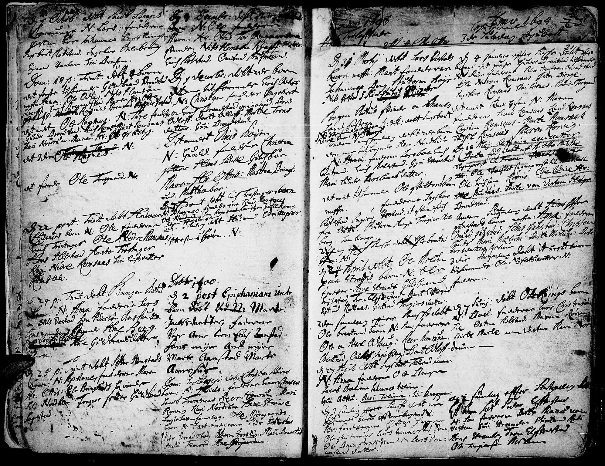 SAH, Ringebu prestekontor, Ministerialbok nr. 1, 1696-1733, s. 20-21