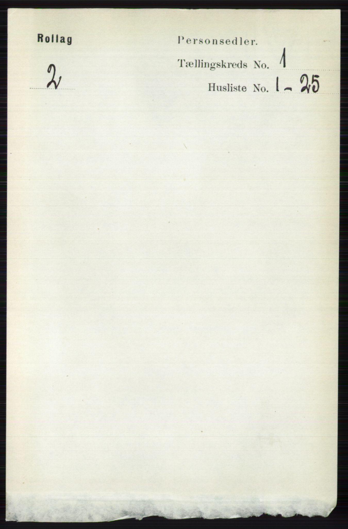 RA, Folketelling 1891 for 0632 Rollag herred, 1891, s. 71