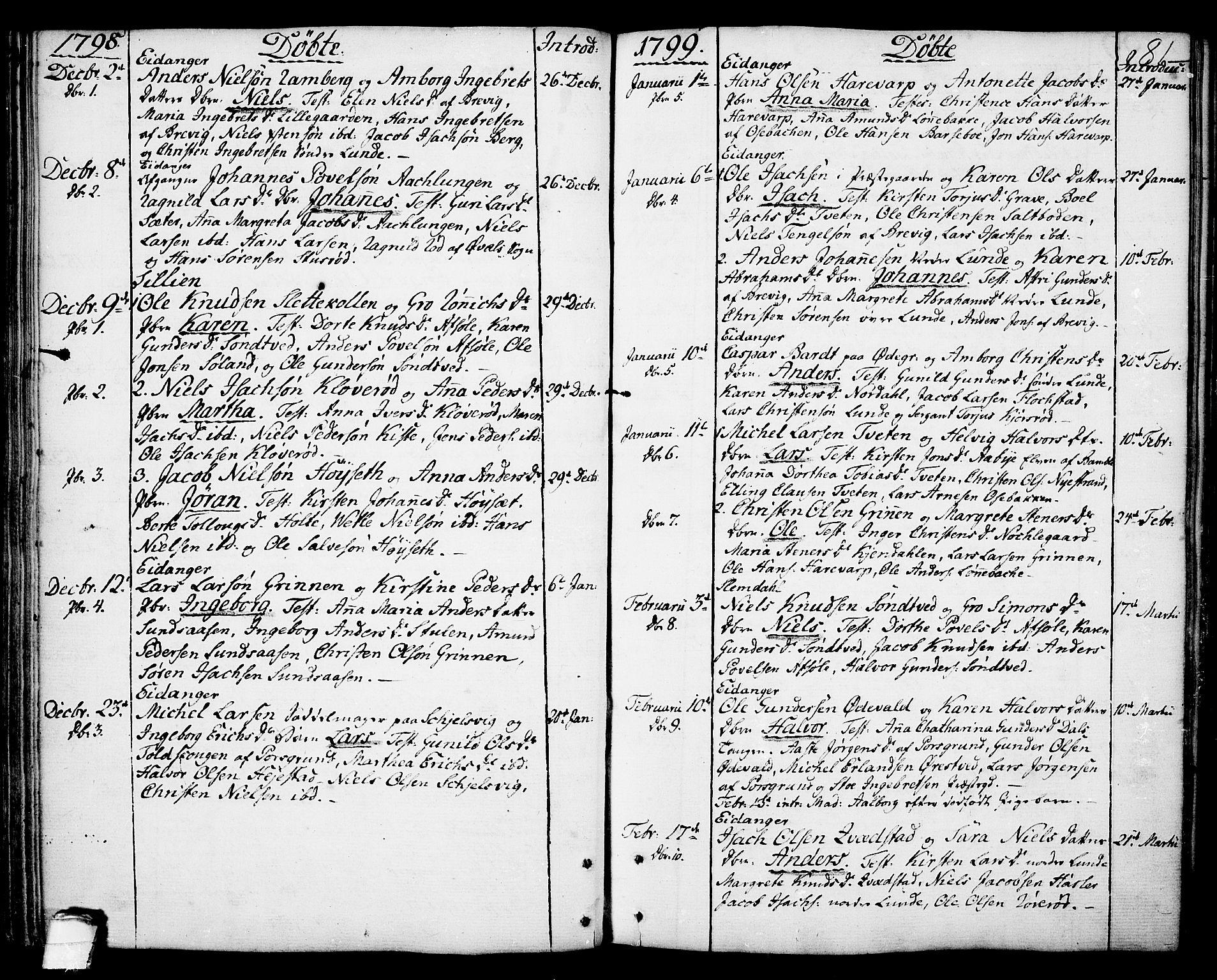 SAKO, Eidanger kirkebøker, F/Fa/L0006: Ministerialbok nr. 6, 1764-1814, s. 81