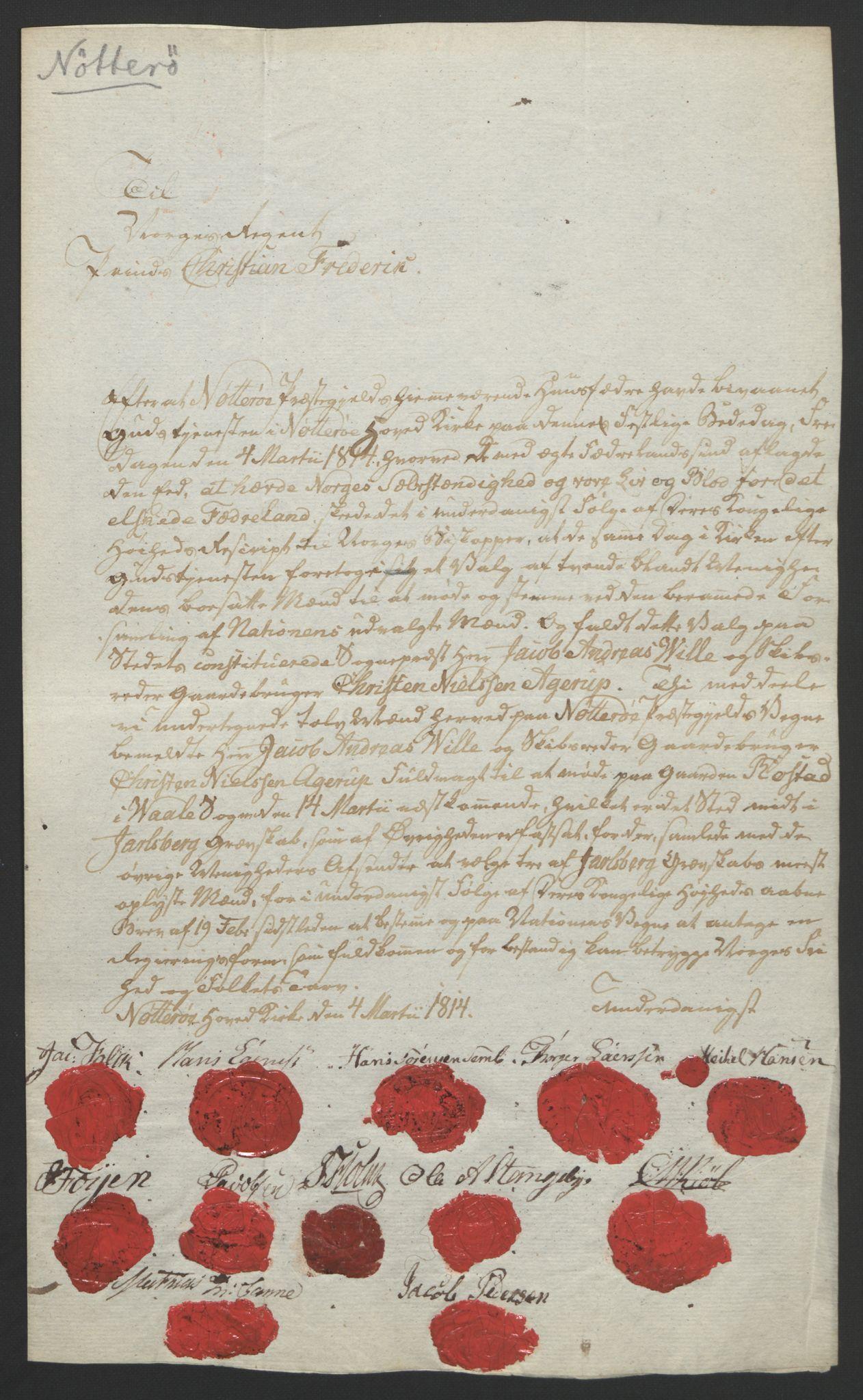 RA, Statsrådssekretariatet, D/Db/L0008: Fullmakter for Eidsvollsrepresentantene i 1814. , 1814, s. 16