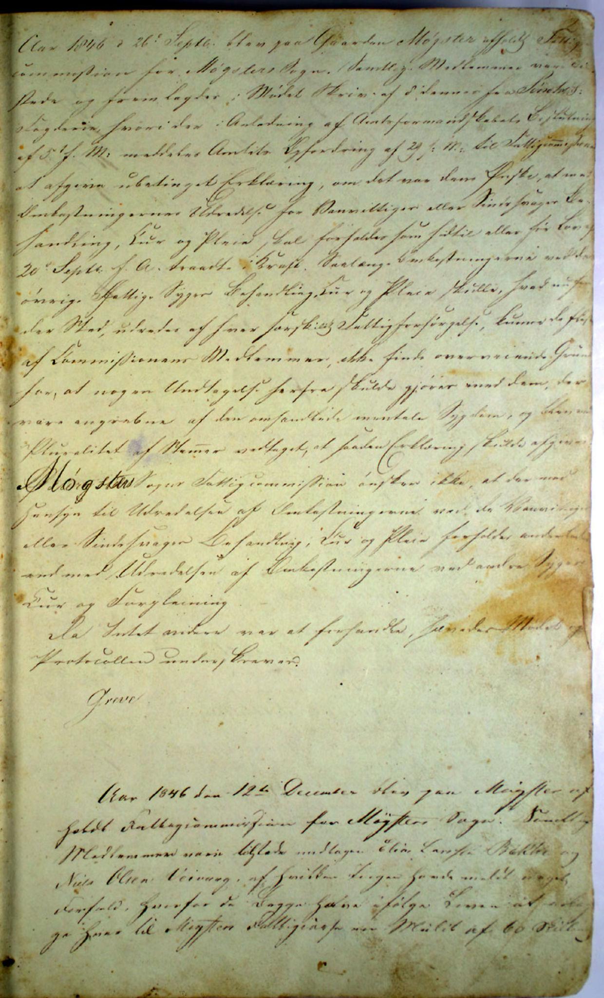 IKAH, Austevoll kommune. Fattigstyret, A/Aa/L0001: Møtebok for Møgster fattigkommisjon / fattigstyre, 1846-1920, s. 2a