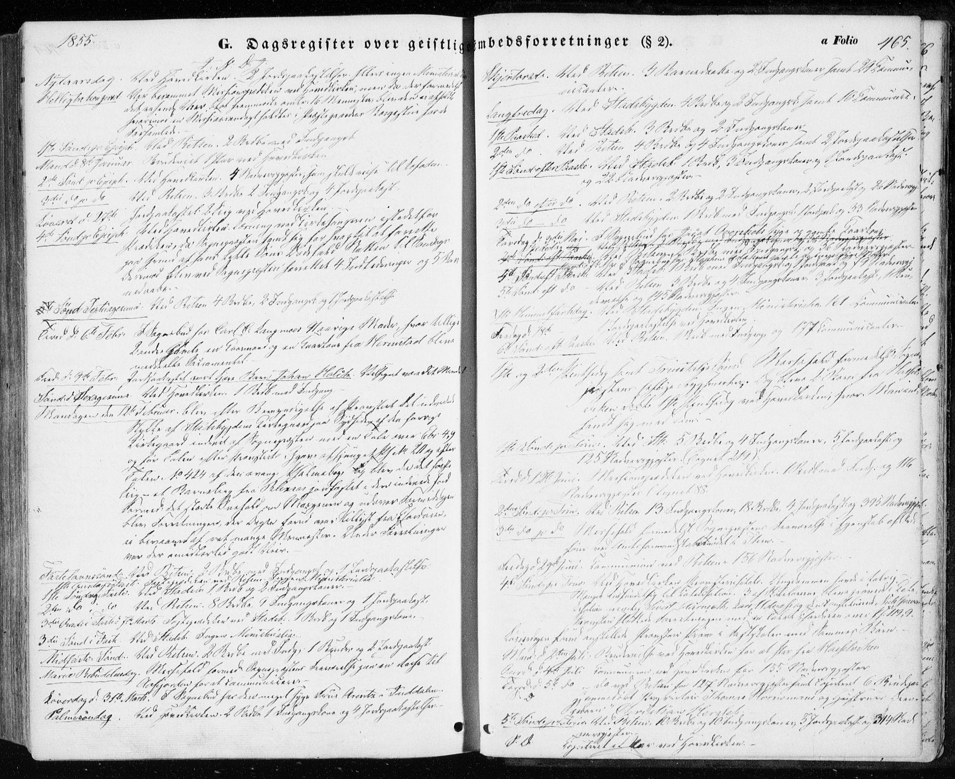 SAT, Ministerialprotokoller, klokkerbøker og fødselsregistre - Sør-Trøndelag, 646/L0611: Ministerialbok nr. 646A09, 1848-1857, s. 465