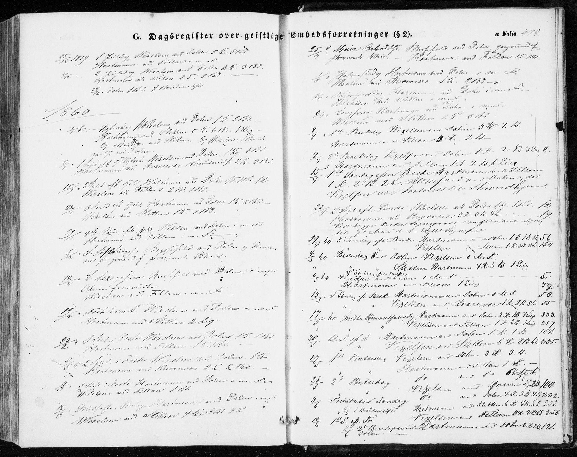 SAT, Ministerialprotokoller, klokkerbøker og fødselsregistre - Sør-Trøndelag, 634/L0530: Ministerialbok nr. 634A06, 1852-1860, s. 478
