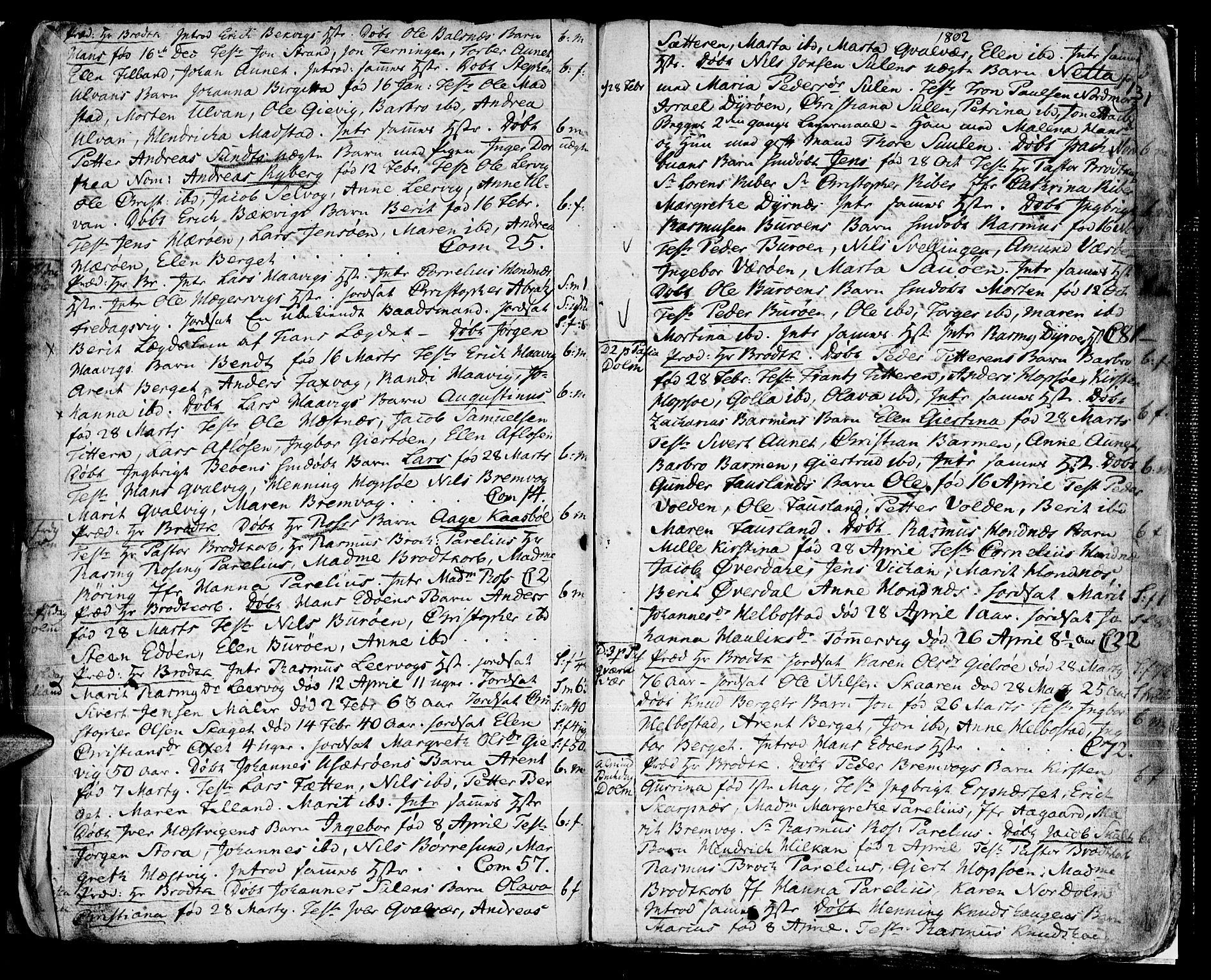 SAT, Ministerialprotokoller, klokkerbøker og fødselsregistre - Sør-Trøndelag, 634/L0526: Ministerialbok nr. 634A02, 1775-1818, s. 131