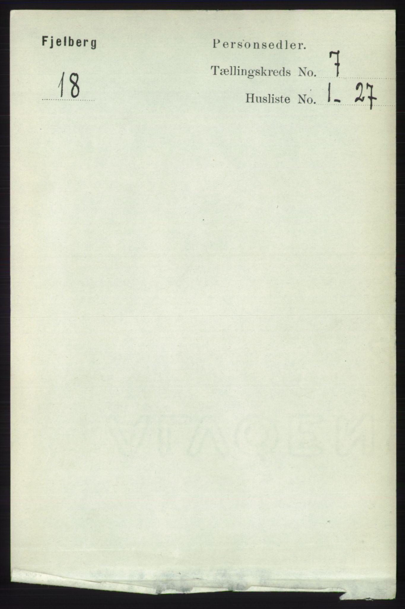 RA, Folketelling 1891 for 1213 Fjelberg herred, 1891, s. 2397