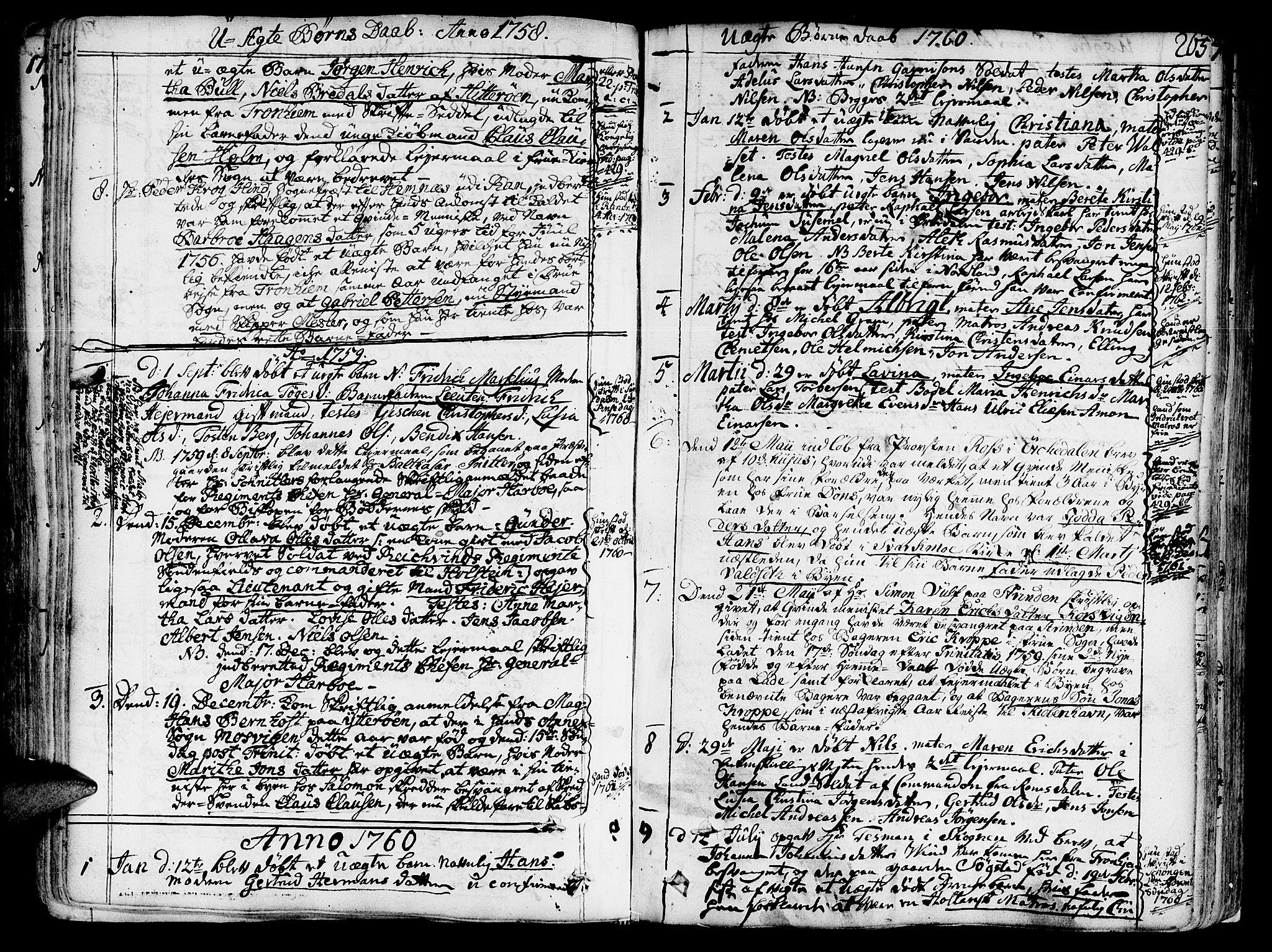 SAT, Ministerialprotokoller, klokkerbøker og fødselsregistre - Sør-Trøndelag, 602/L0103: Ministerialbok nr. 602A01, 1732-1774, s. 265