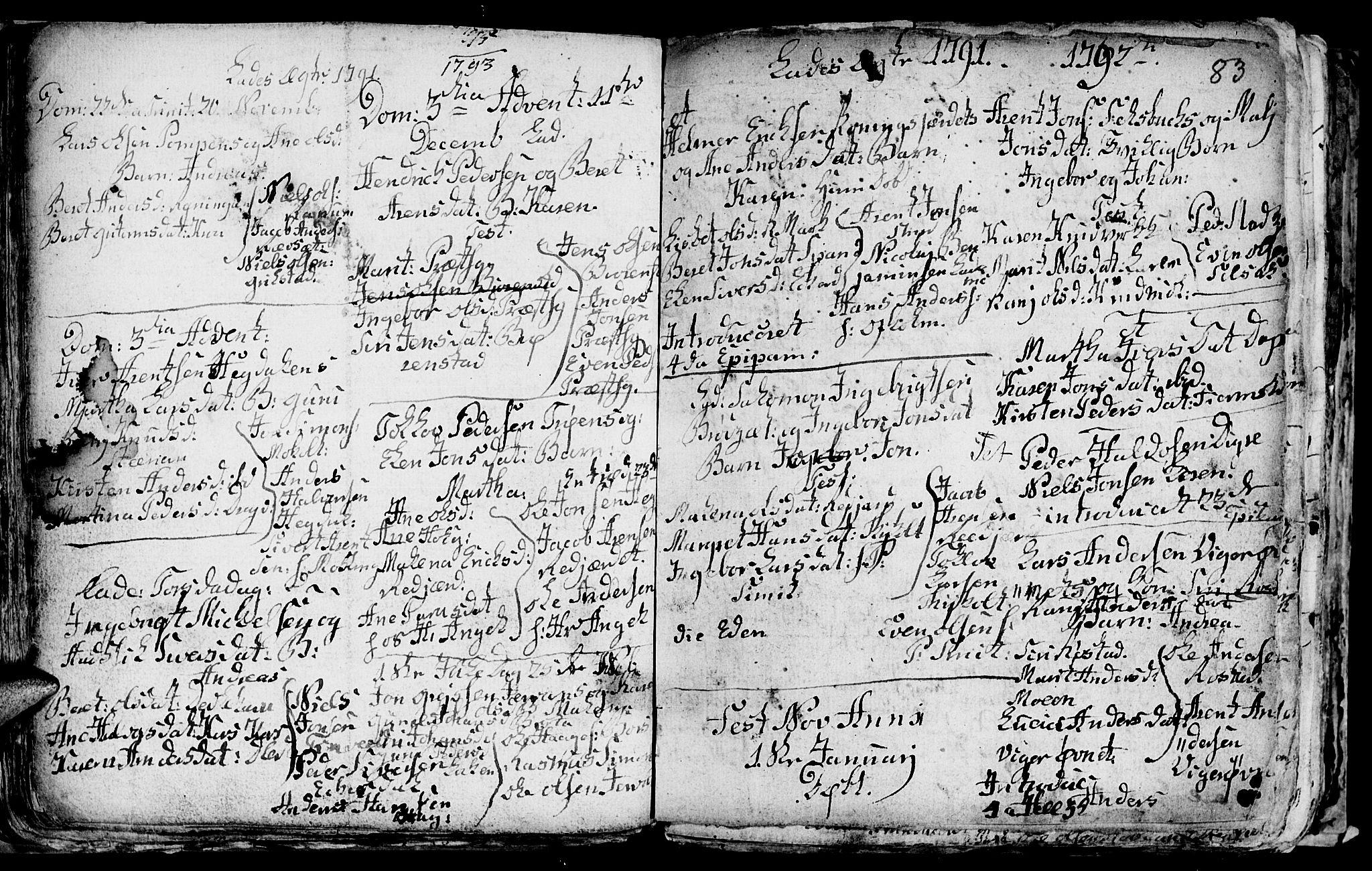 SAT, Ministerialprotokoller, klokkerbøker og fødselsregistre - Sør-Trøndelag, 606/L0305: Klokkerbok nr. 606C01, 1757-1819, s. 83