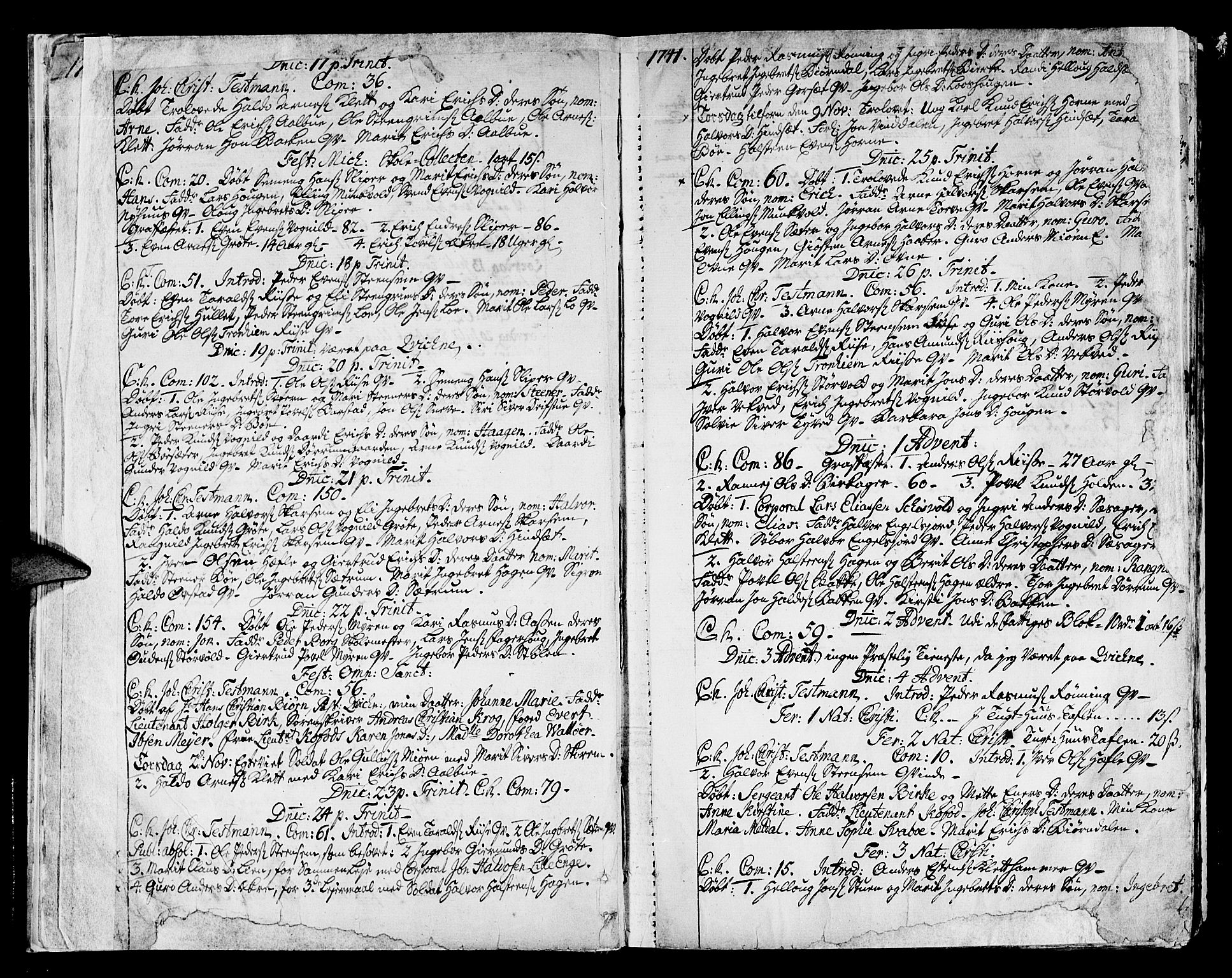 SAT, Ministerialprotokoller, klokkerbøker og fødselsregistre - Sør-Trøndelag, 678/L0891: Ministerialbok nr. 678A01, 1739-1780, s. 13