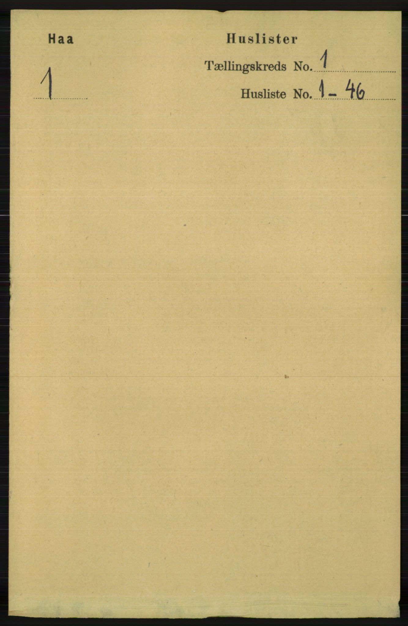 RA, Folketelling 1891 for 1119 Hå herred, 1891, s. 39
