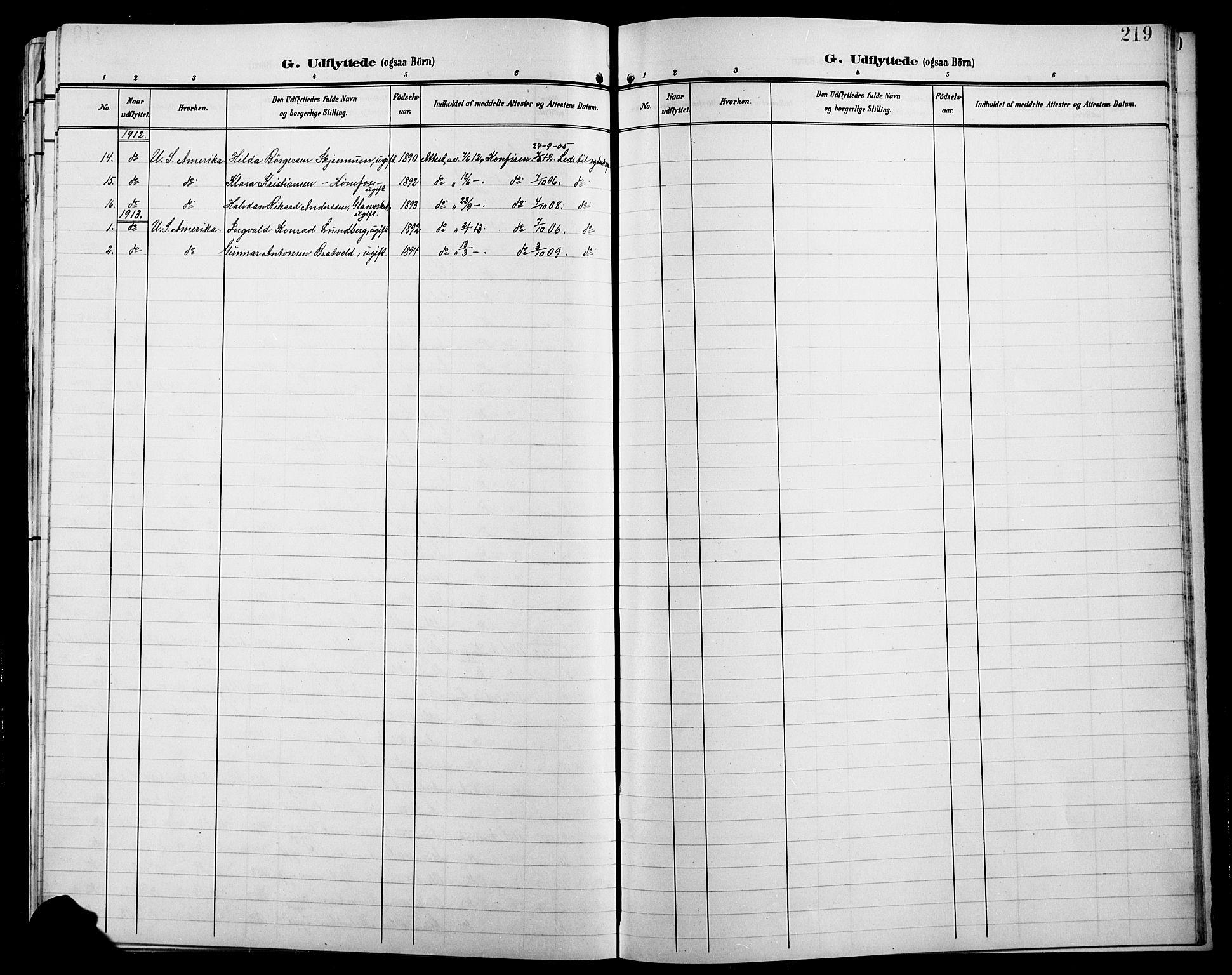 SAH, Jevnaker prestekontor, Klokkerbok nr. 4, 1907-1918, s. 219