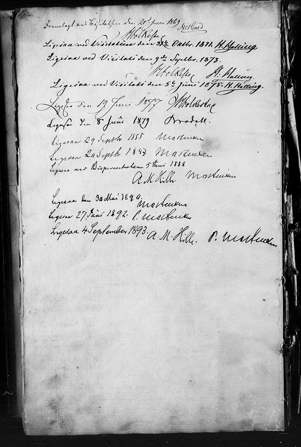 SAH, Skjåk prestekontor, Klokkerbok nr. 1, 1865-1893