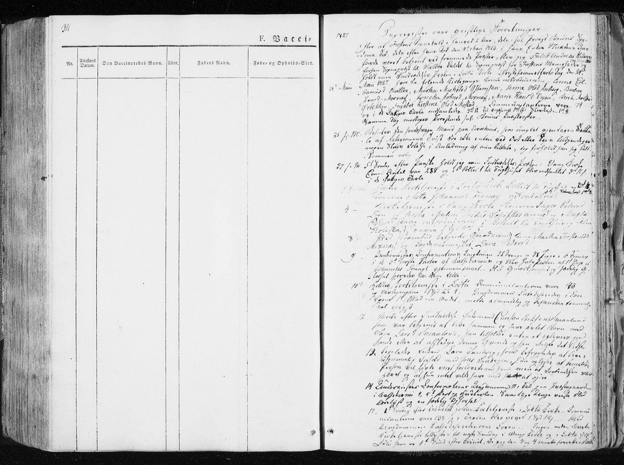SAT, Ministerialprotokoller, klokkerbøker og fødselsregistre - Nord-Trøndelag, 713/L0114: Ministerialbok nr. 713A05, 1827-1839, s. 311