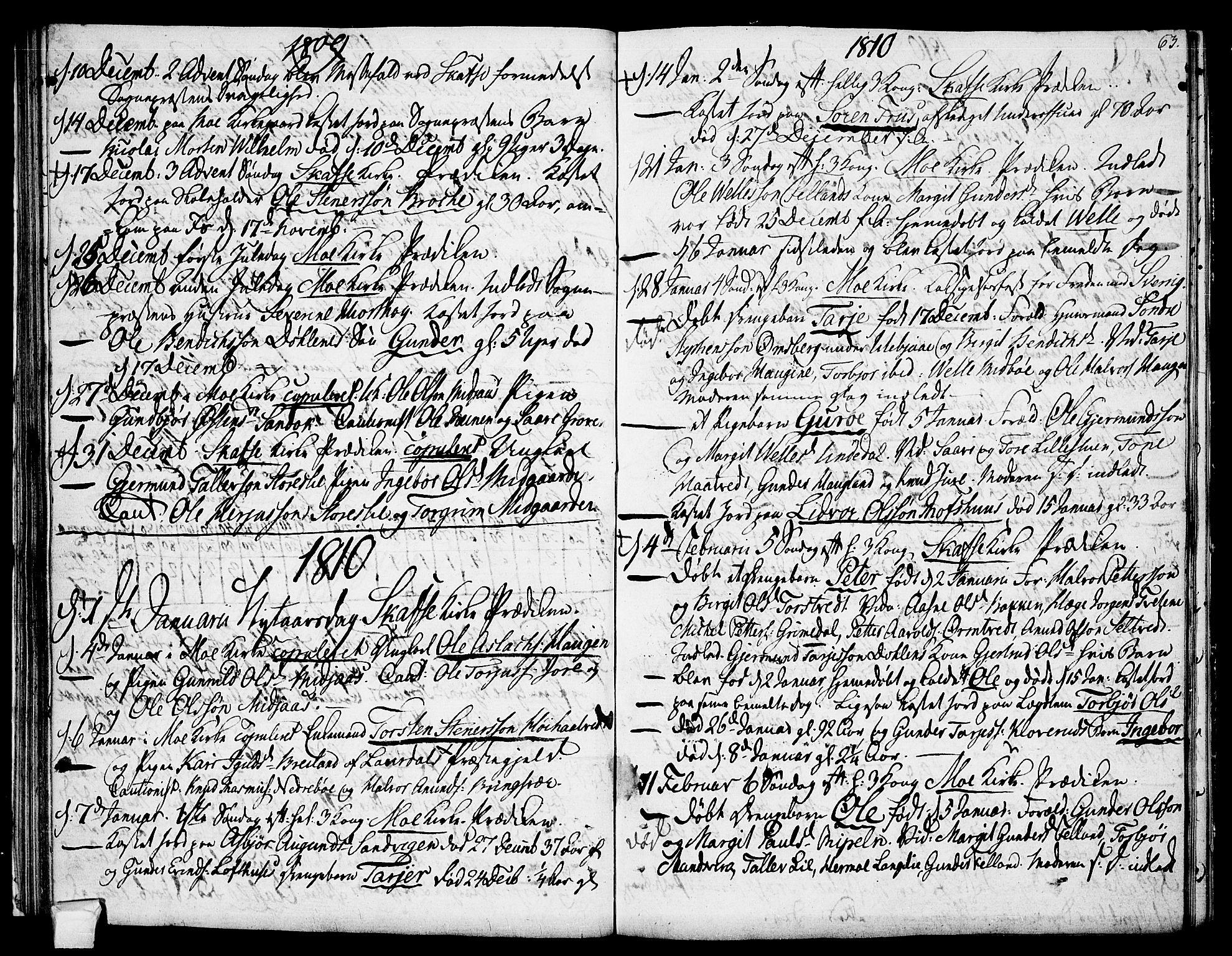 SAKO, Mo kirkebøker, F/Fa/L0003: Ministerialbok nr. I 3, 1800-1814, s. 63