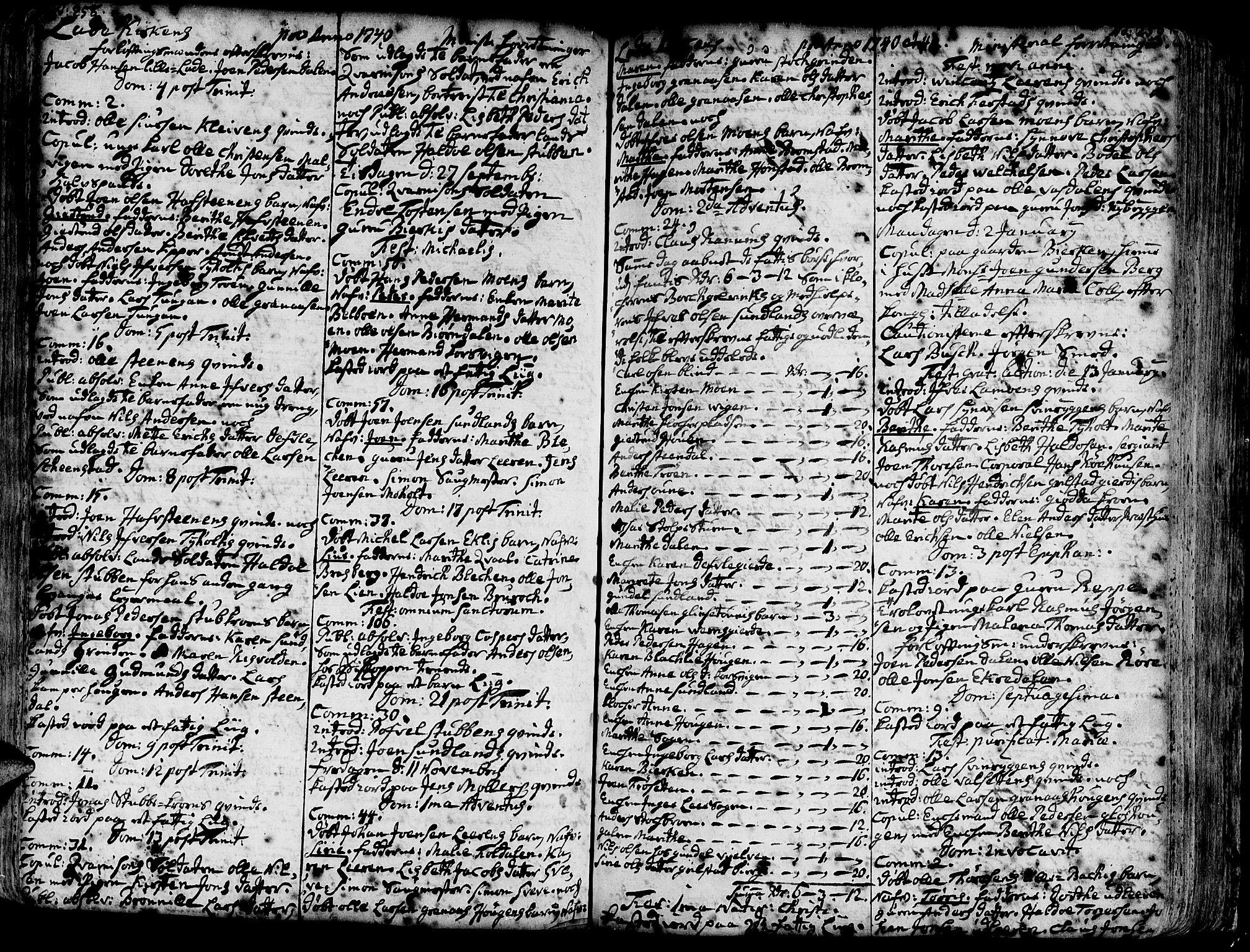 SAT, Ministerialprotokoller, klokkerbøker og fødselsregistre - Sør-Trøndelag, 606/L0275: Ministerialbok nr. 606A01 /1, 1727-1780, s. 258-259