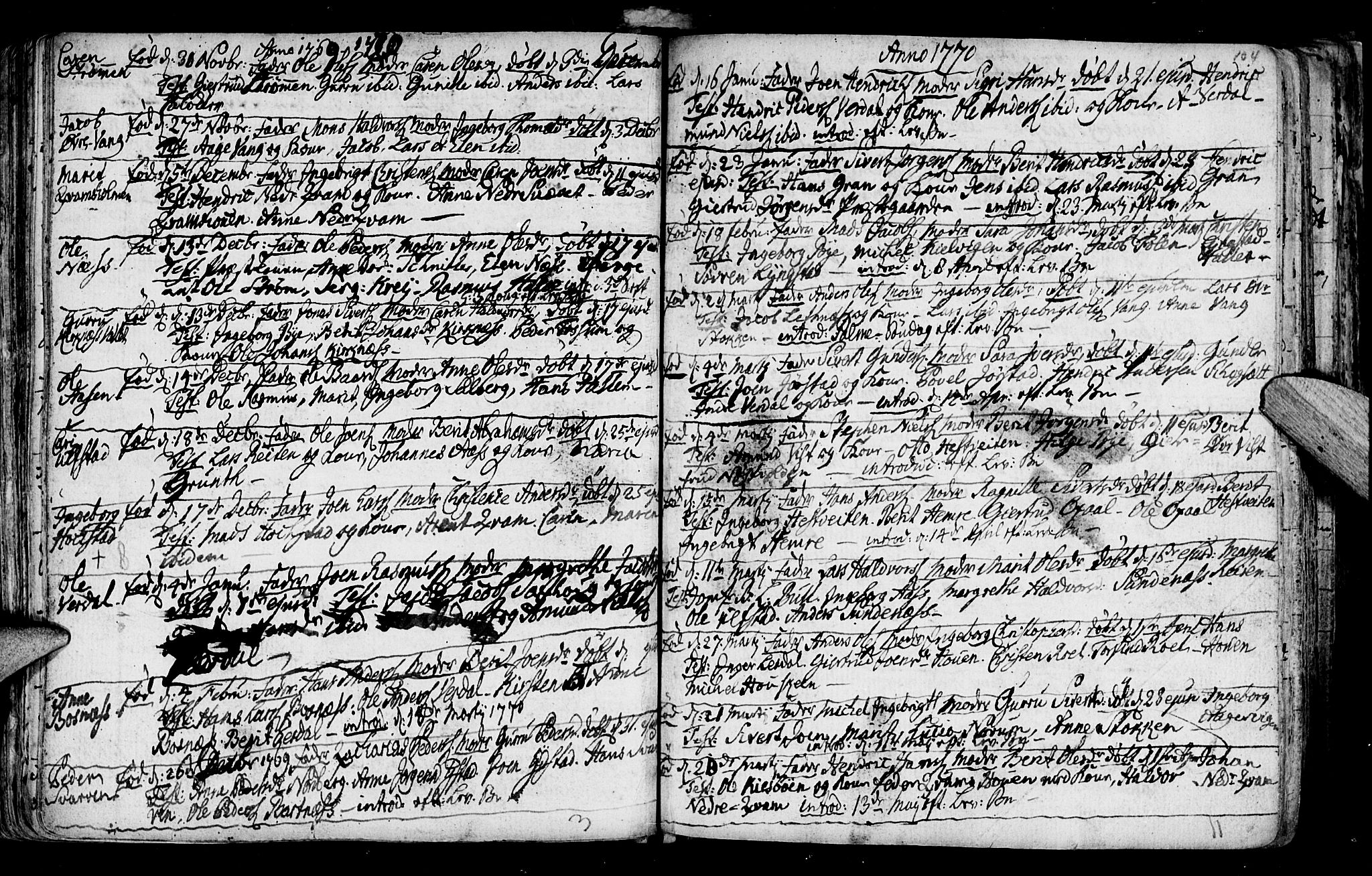 SAT, Ministerialprotokoller, klokkerbøker og fødselsregistre - Nord-Trøndelag, 730/L0273: Ministerialbok nr. 730A02, 1762-1802, s. 104
