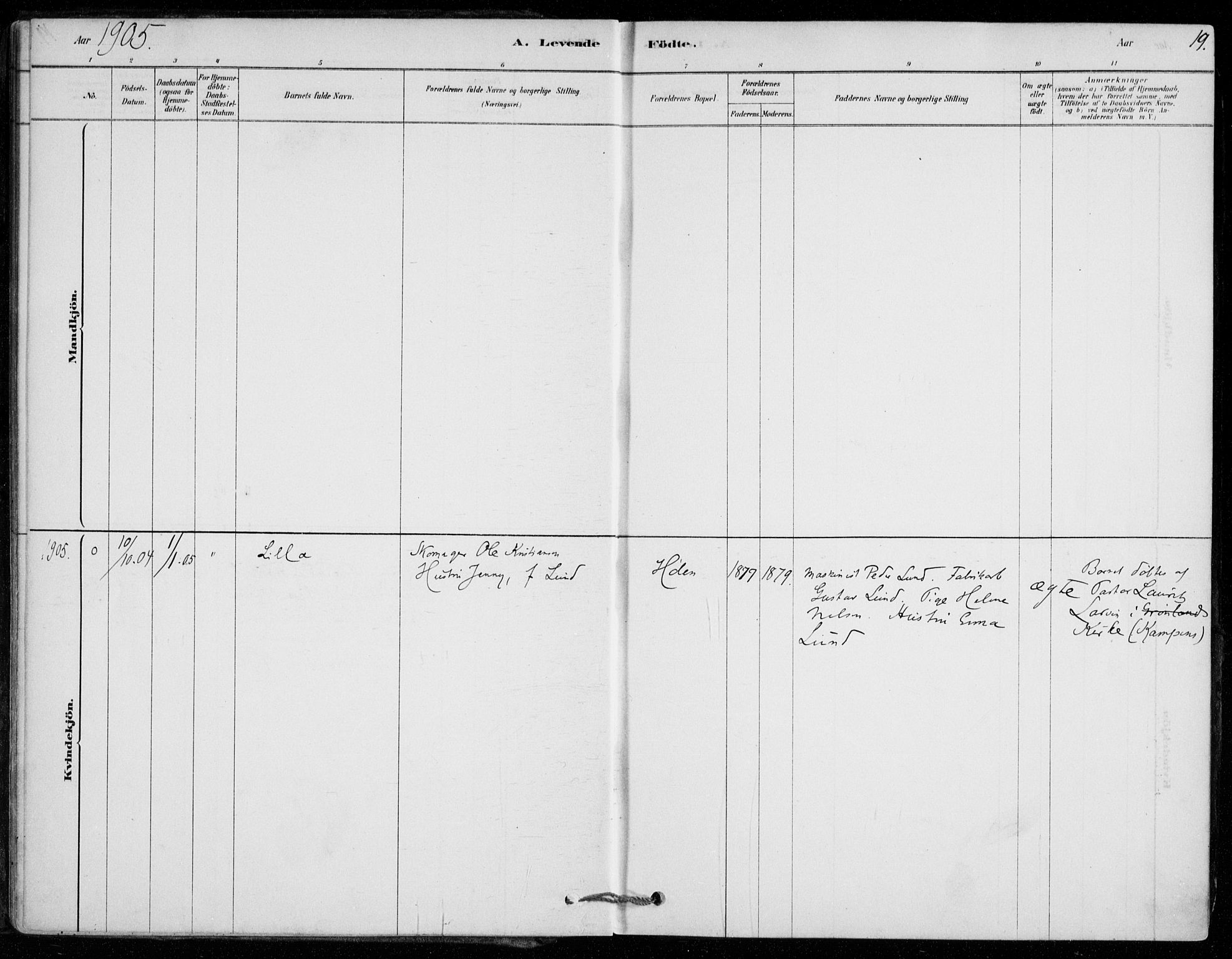 SAO, Vestby prestekontor Kirkebøker, F/Fe/L0001: Ministerialbok nr. V 1, 1878-1931, s. 19